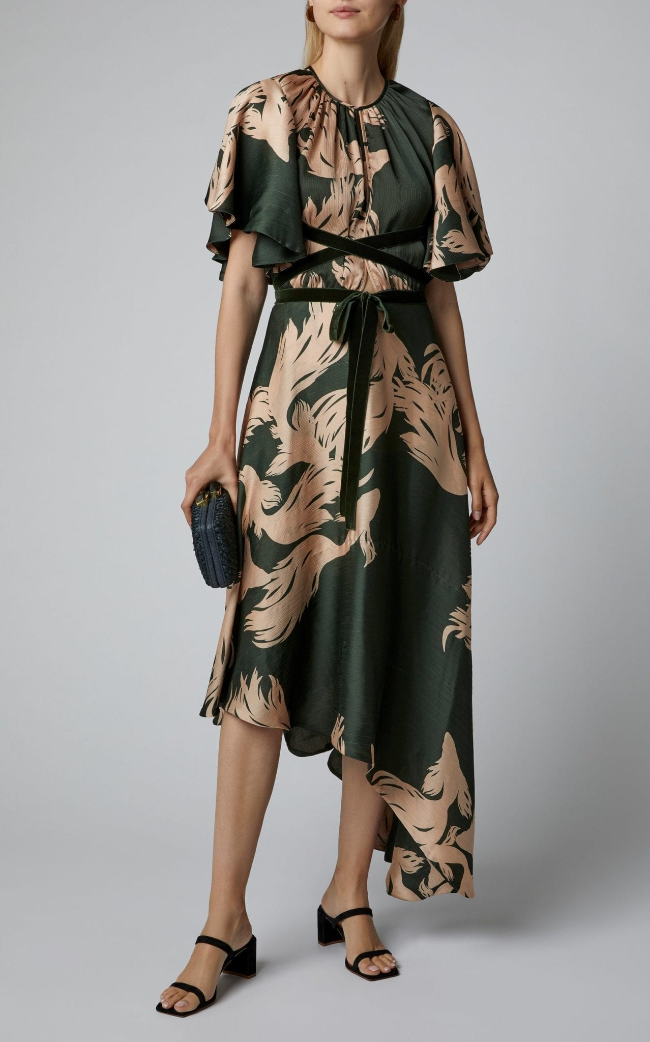 JOHANNA ORTIZ El Despertar De La Esencia Georgette Maxi Dress