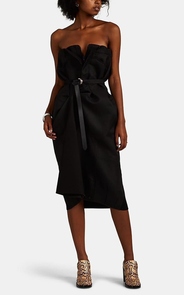 MAISON MARGIELA Mixed-Media Mock-Trouser Dress