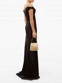 MARIA LUCIA HOHAN Ayla Crystal-embellished Velvet Maxi Dress