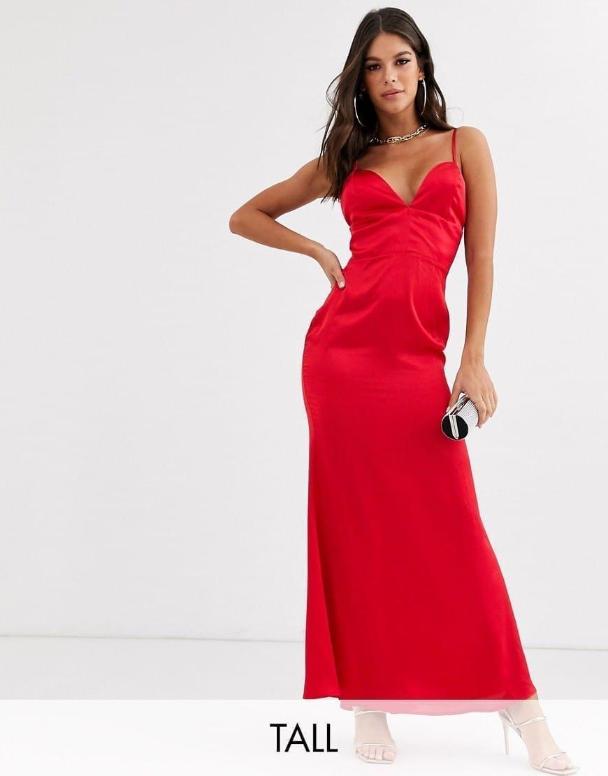 MISSGUIDED Tall Satin Maxi Dress