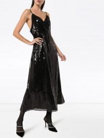 MIU MIU Sequinned Slip Midi Dress