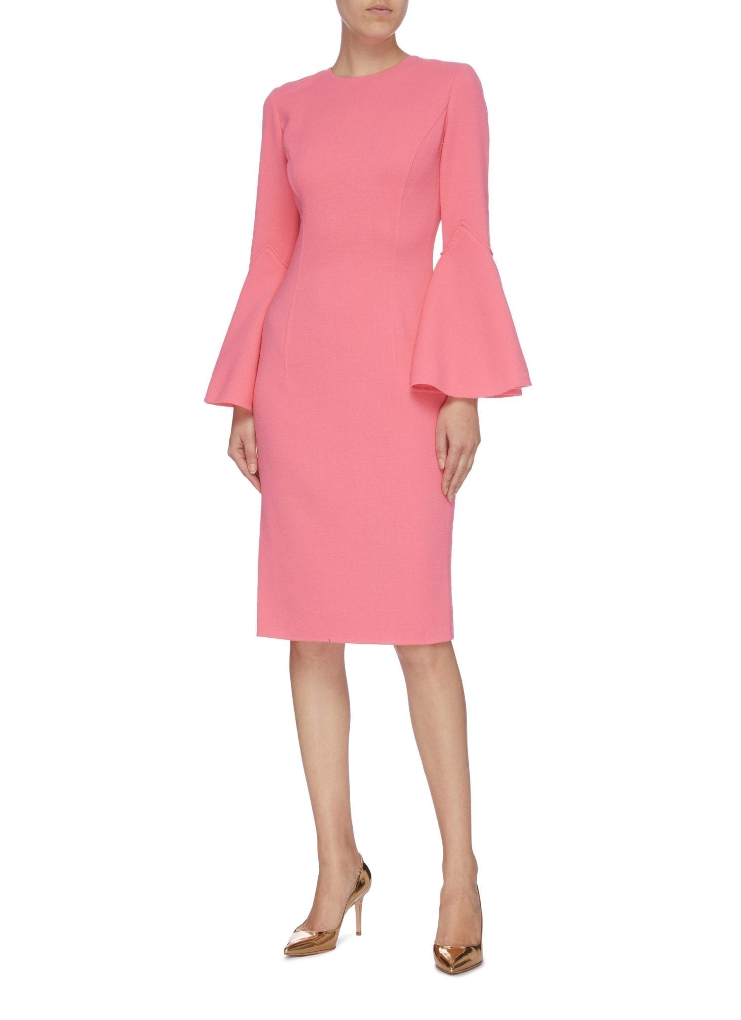 OSCAR DE LA RENTA Flared Sleeve Dress