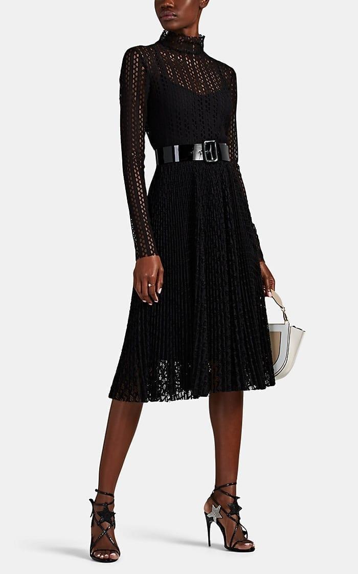 PHILOSOPHY DI LORENZO SERAFINI Pointelle Lace Midi-Dress