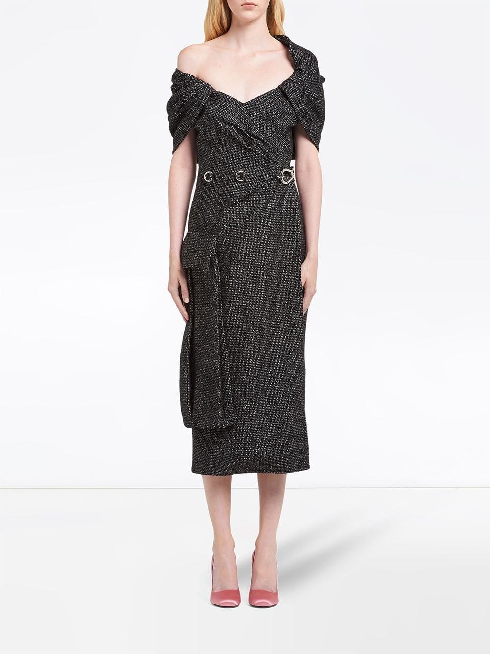 PRADA Chevron Motif Sheath Dress