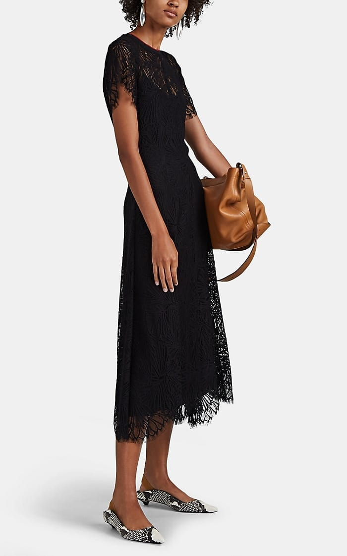 PROENZA SCHOULER Floral Lace Midi-Dress