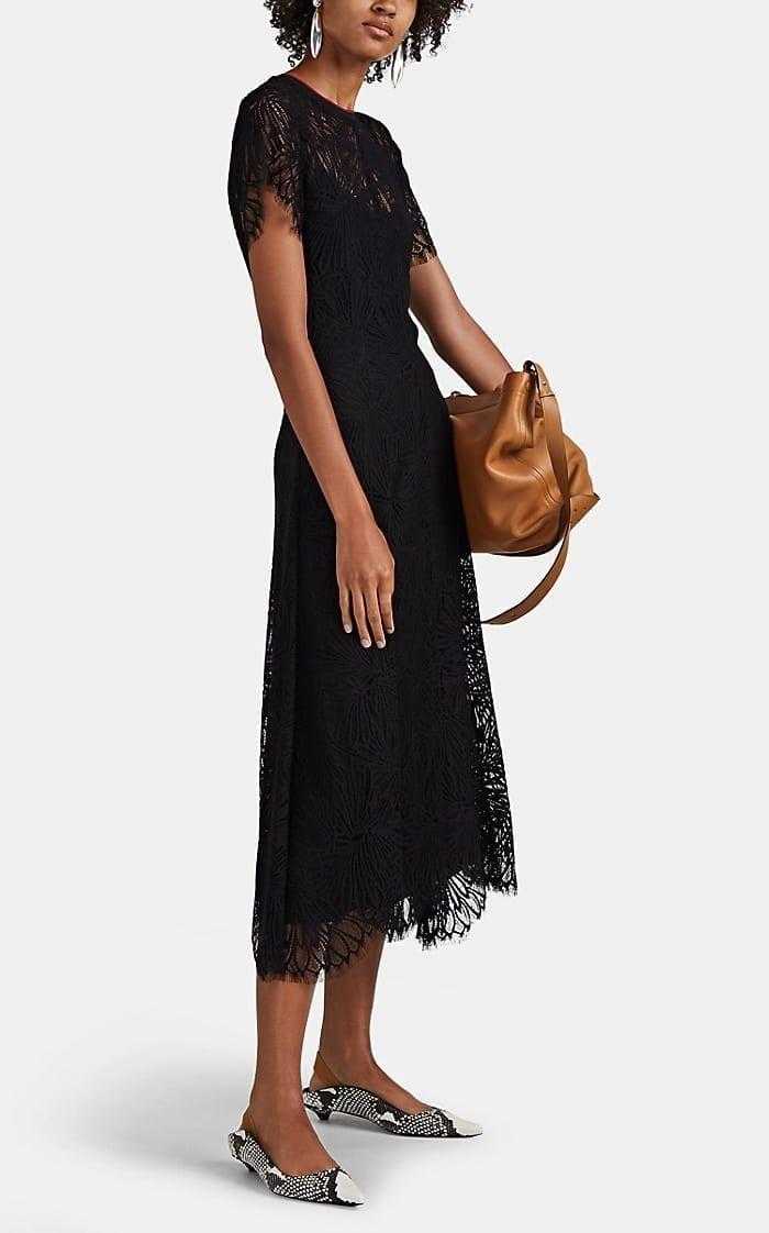 PROENZA SCHOULER Floral Lace Midi-Dress