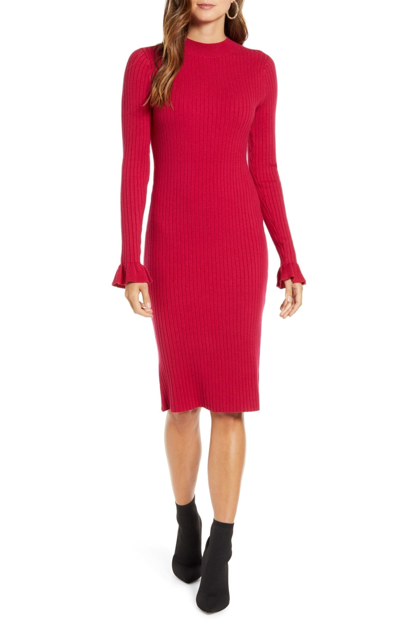 RACHEL PARCELL Rib Sweater Dress