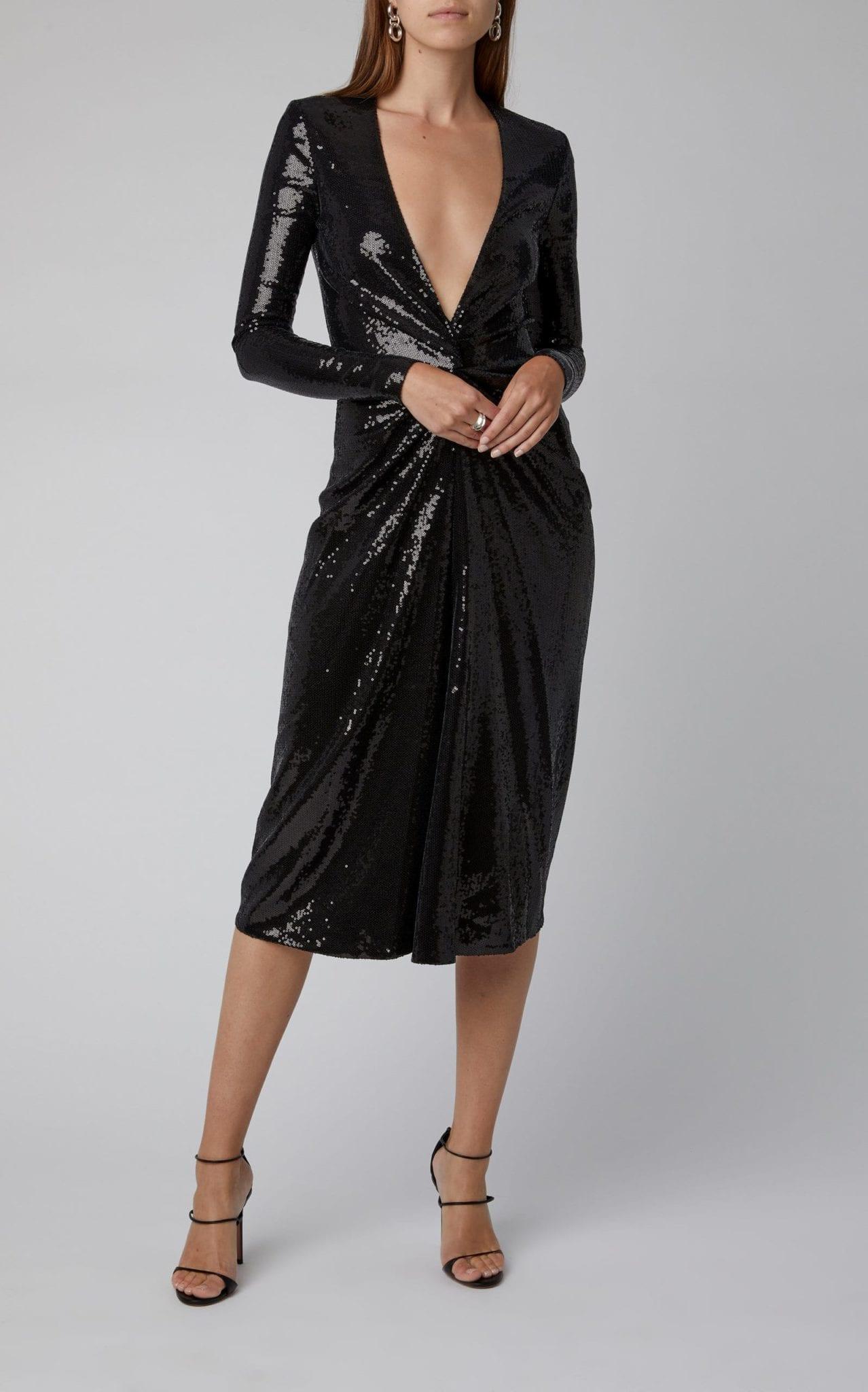 RALPH LAUREN Stellan Sequined Jersey Midi Dress