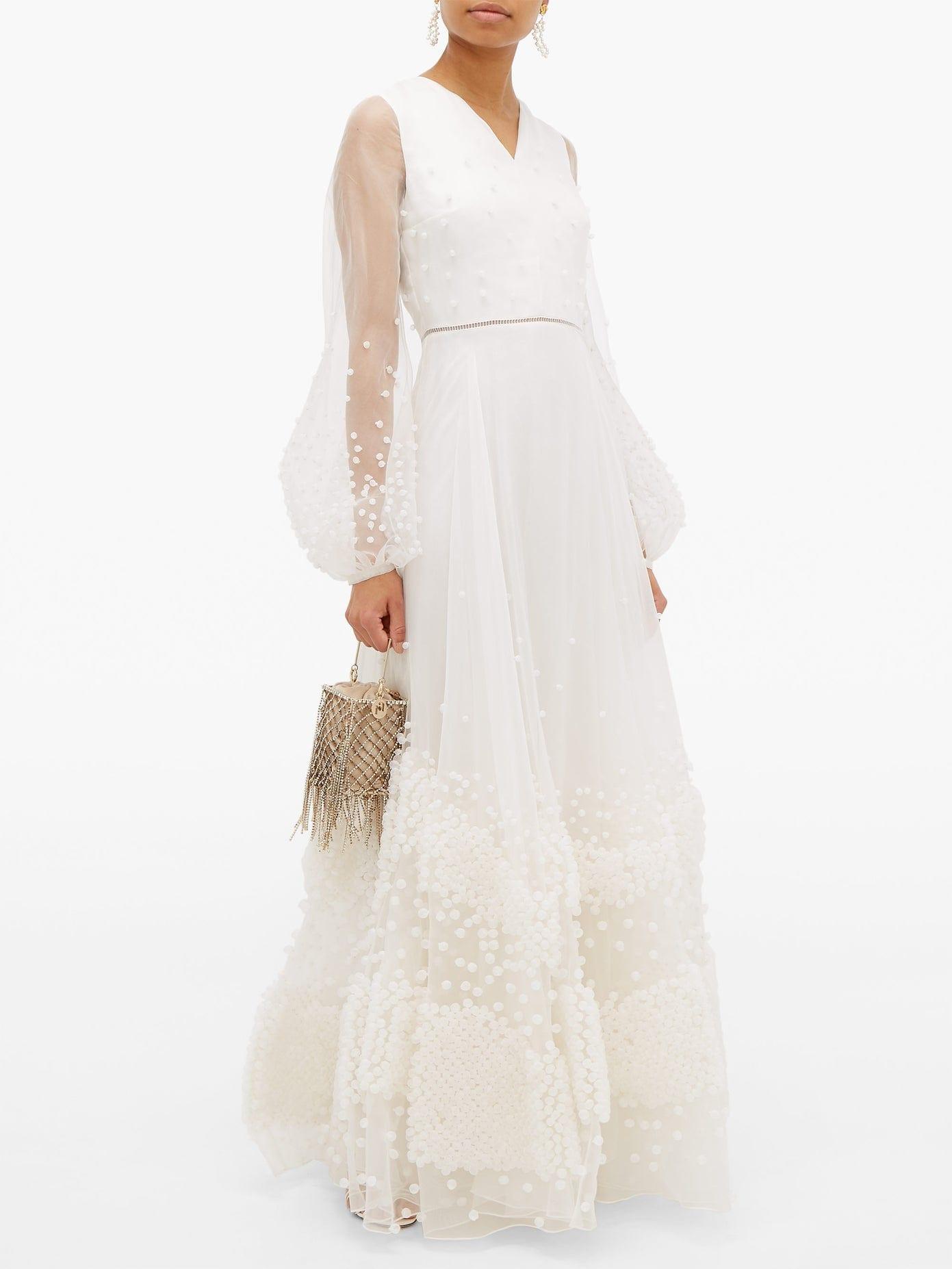 ROKSANDA Viola Bubble-Appliqué Silk-Organza Gown