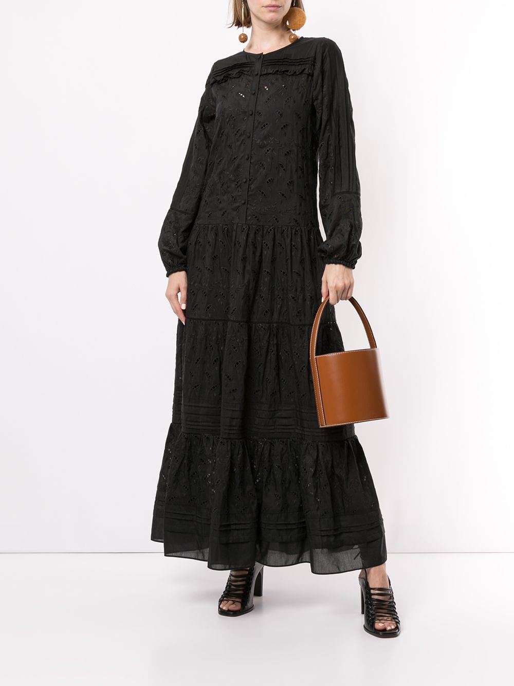 SIR. Elodie Long Sleeved Maxi Dress