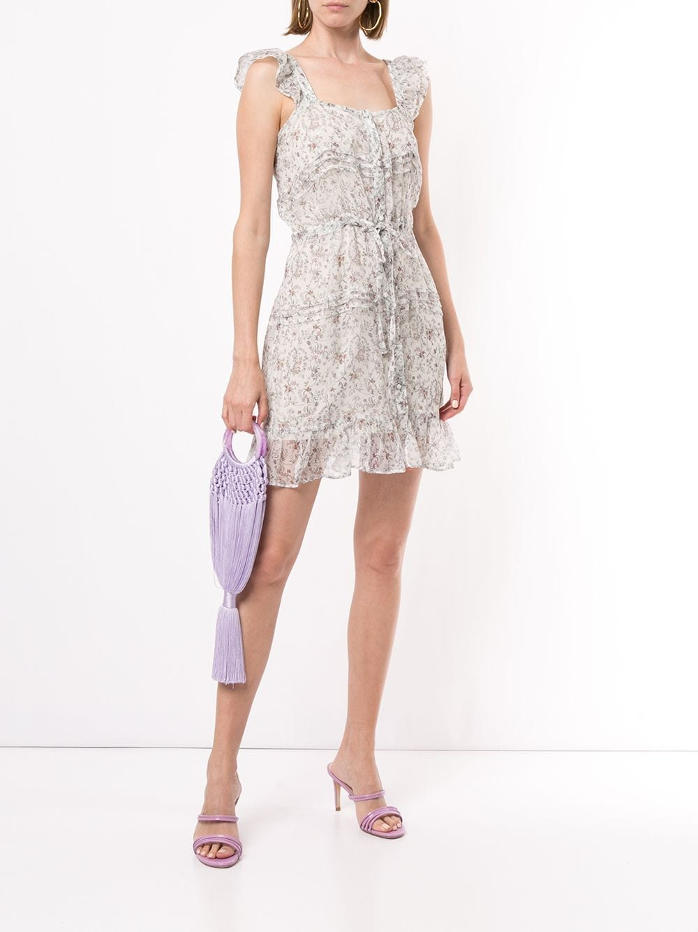 SIR. Tilda Ruffle Silk Mini Dress
