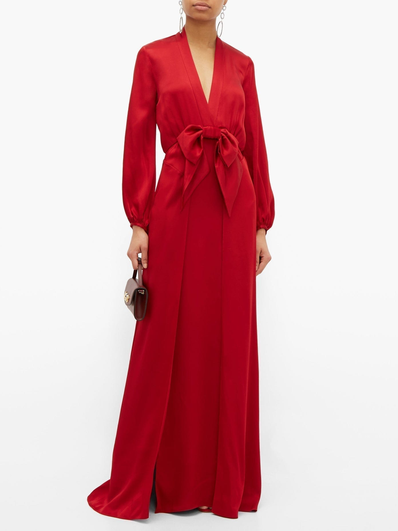 TEMPERLEY LONDON Grace Bow-embellished Satin Gown