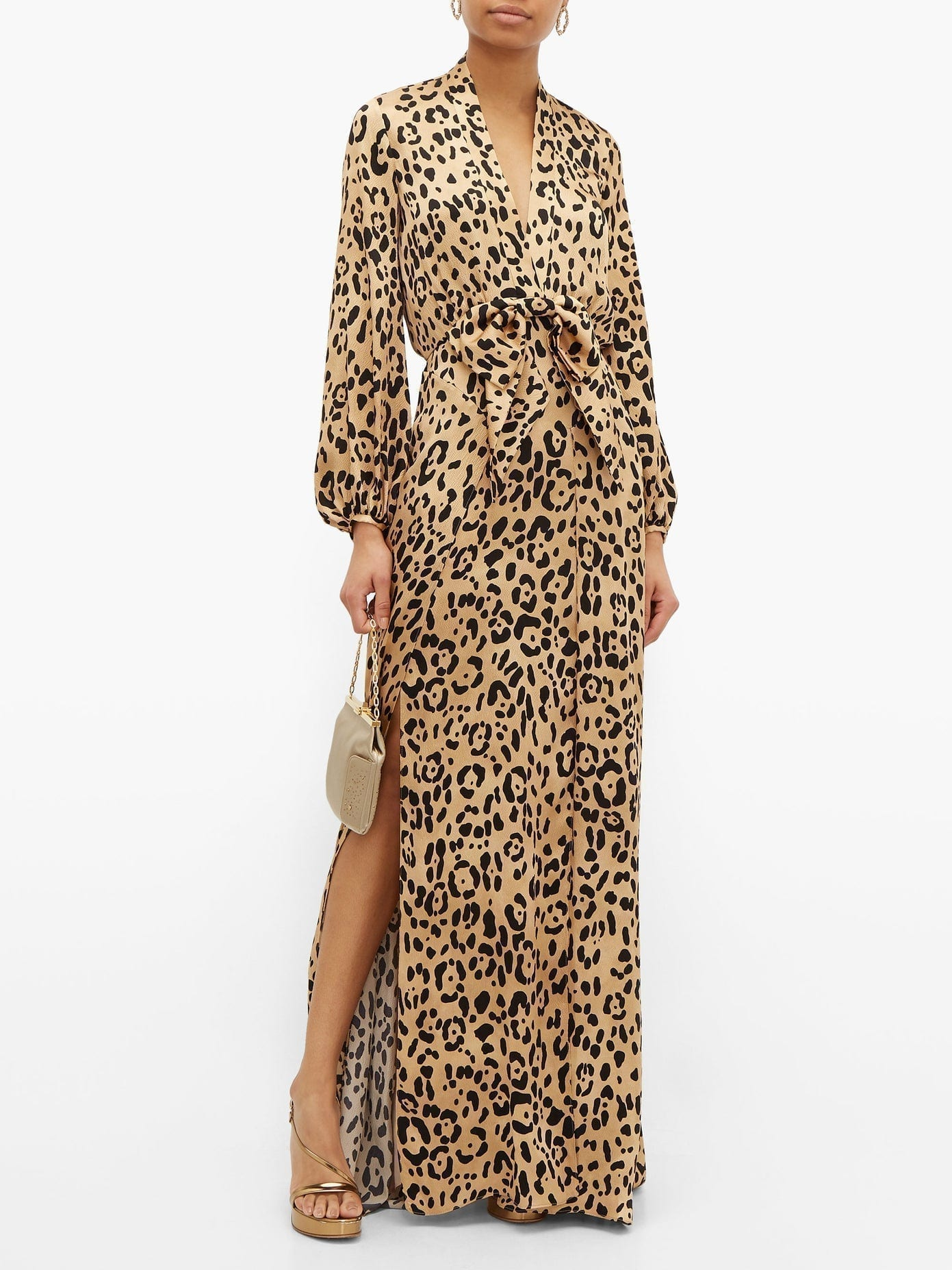 TEMPERLEY LONDON Piera Leopard-print Hammered Silk-satin Maxi Dress