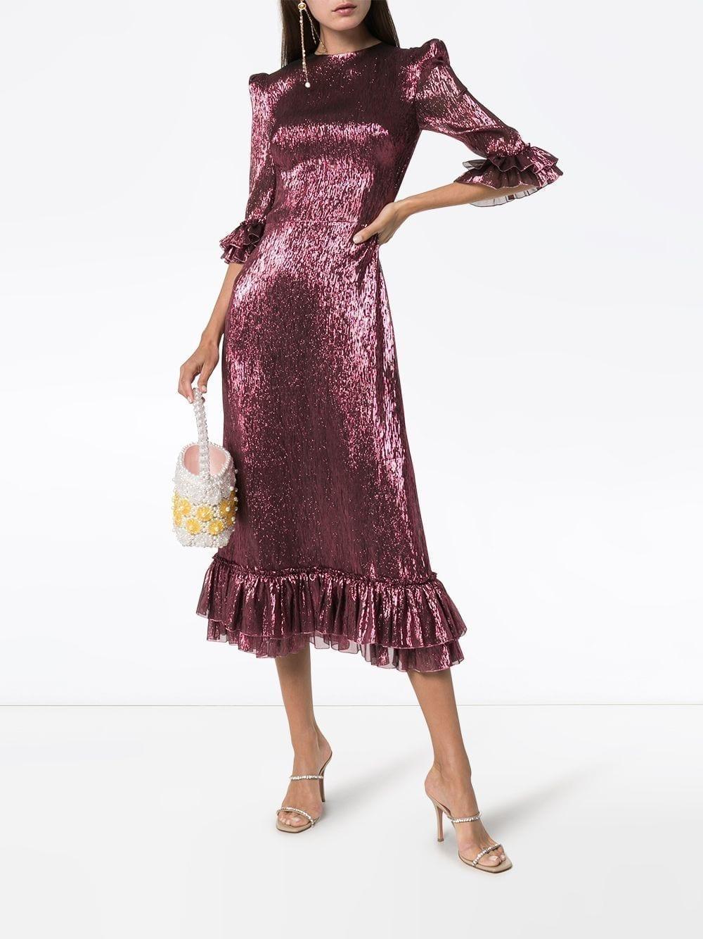 THE VAMPIRE'S WIFE Falconetti Ruffle Trim Dress