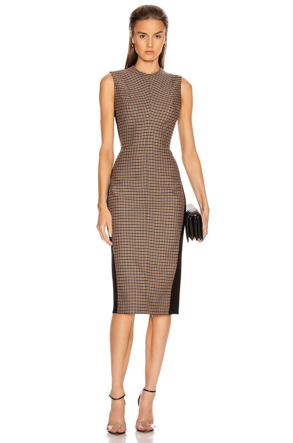 VICTORIA BECKHAM Sleeveless Darted Midi Dress