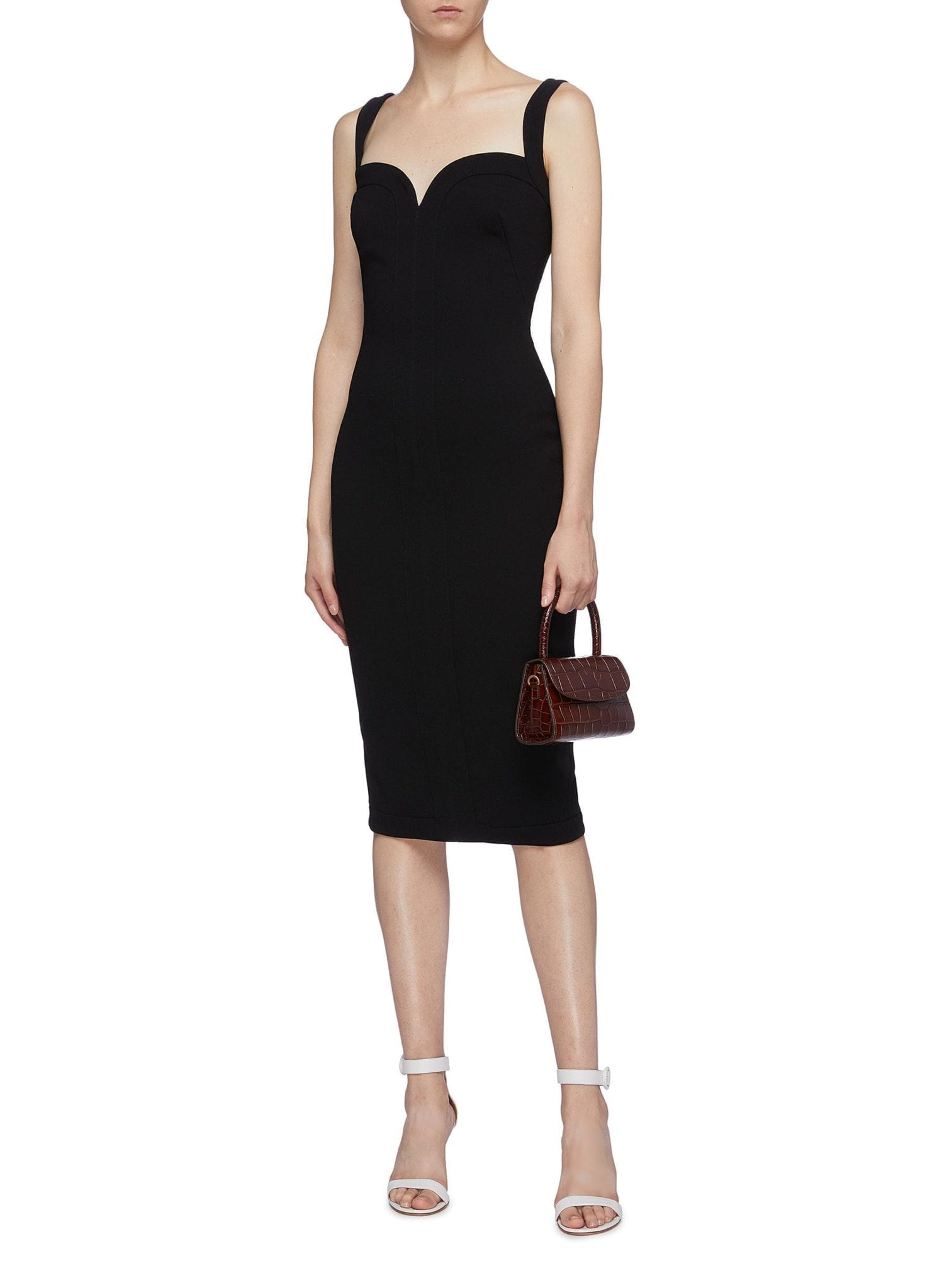 VICTORIA BECKHAM Sweetheart Neckline Sleeveless Crepe Dress