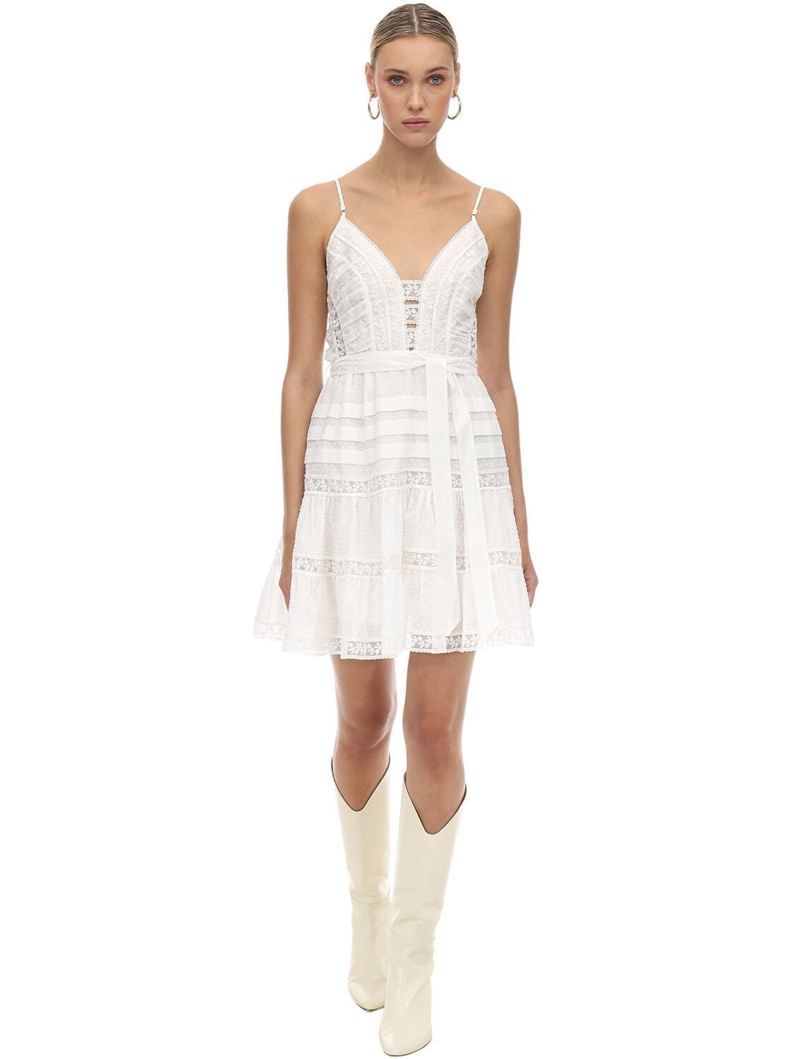 ZIMMERMANN Linen & Lace Mini Dress