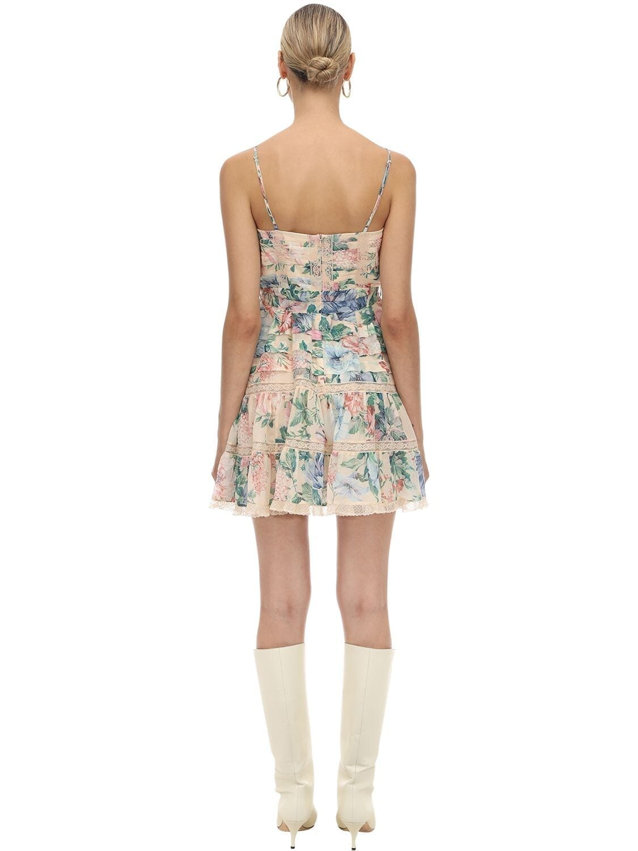 Zimmermann Printed Cotton Amp Silk Mini Dress We Select