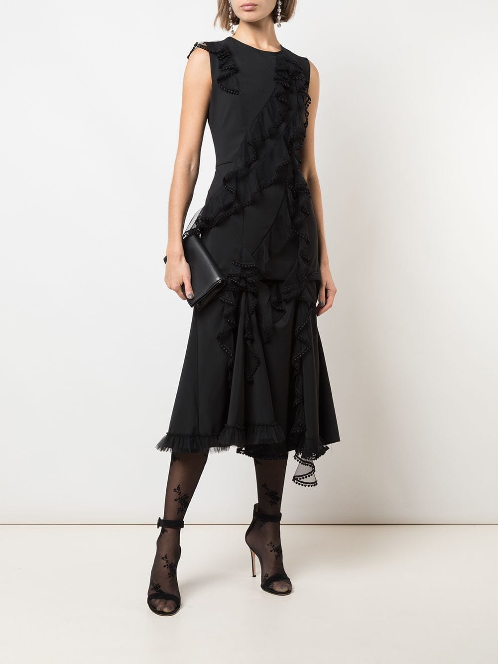 ACT N°1 Ruffle Trim Dress