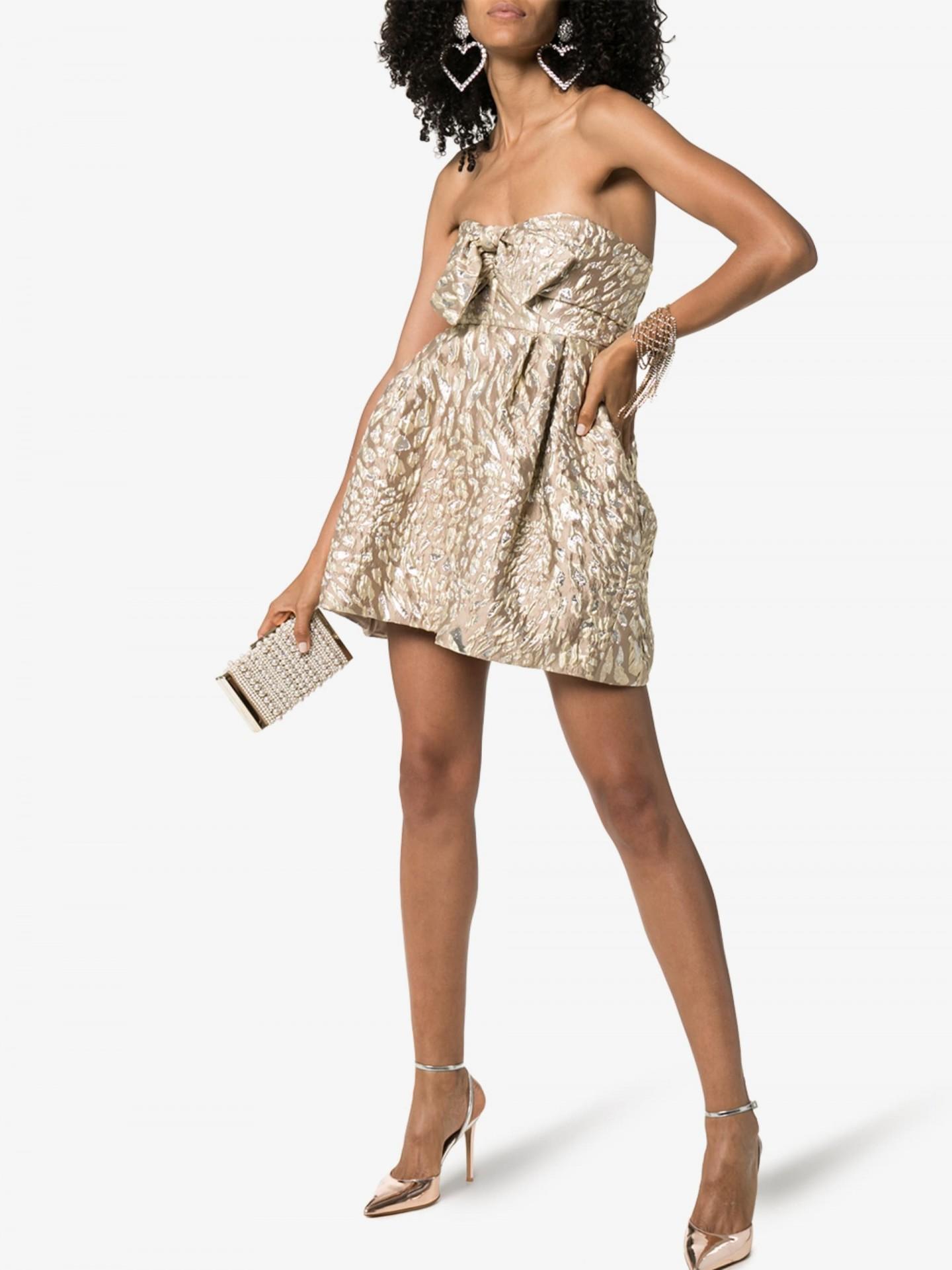ALEXANDRE VAUTHIER Bustier Pouf Mini Dress