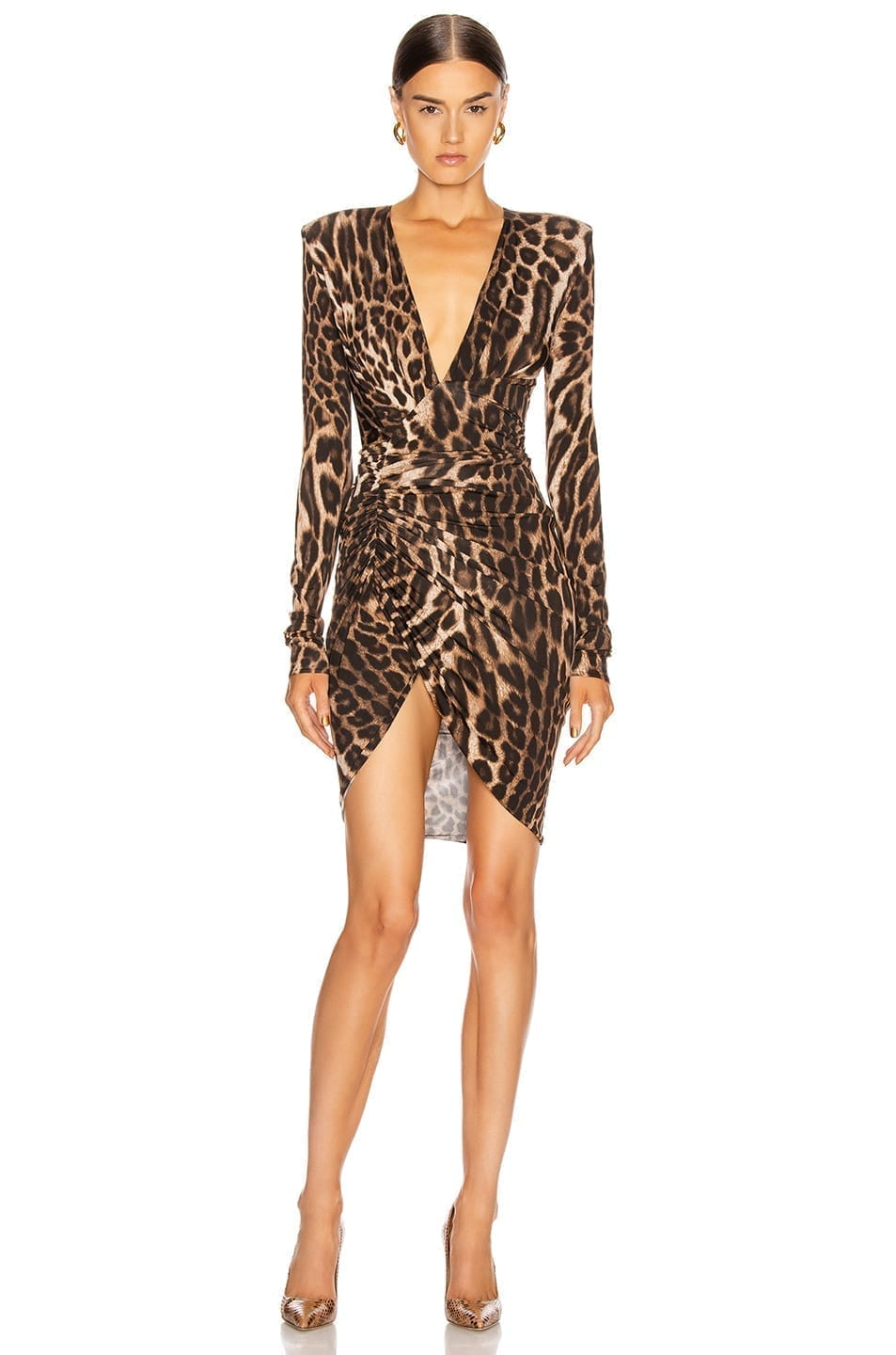 ALEXANDRE VAUTHIER For FWRD Plunging Ruched Mini Dress