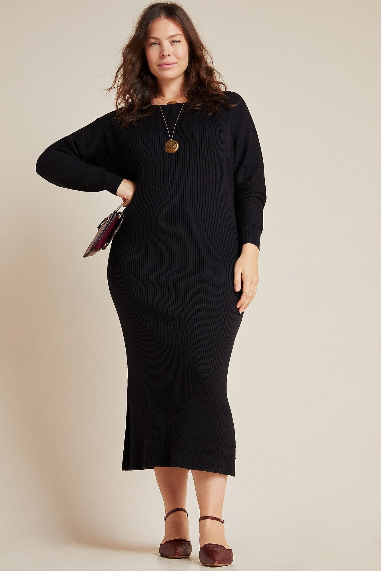 ANTHROPOLOGIE Shea Sweater Midi Dress