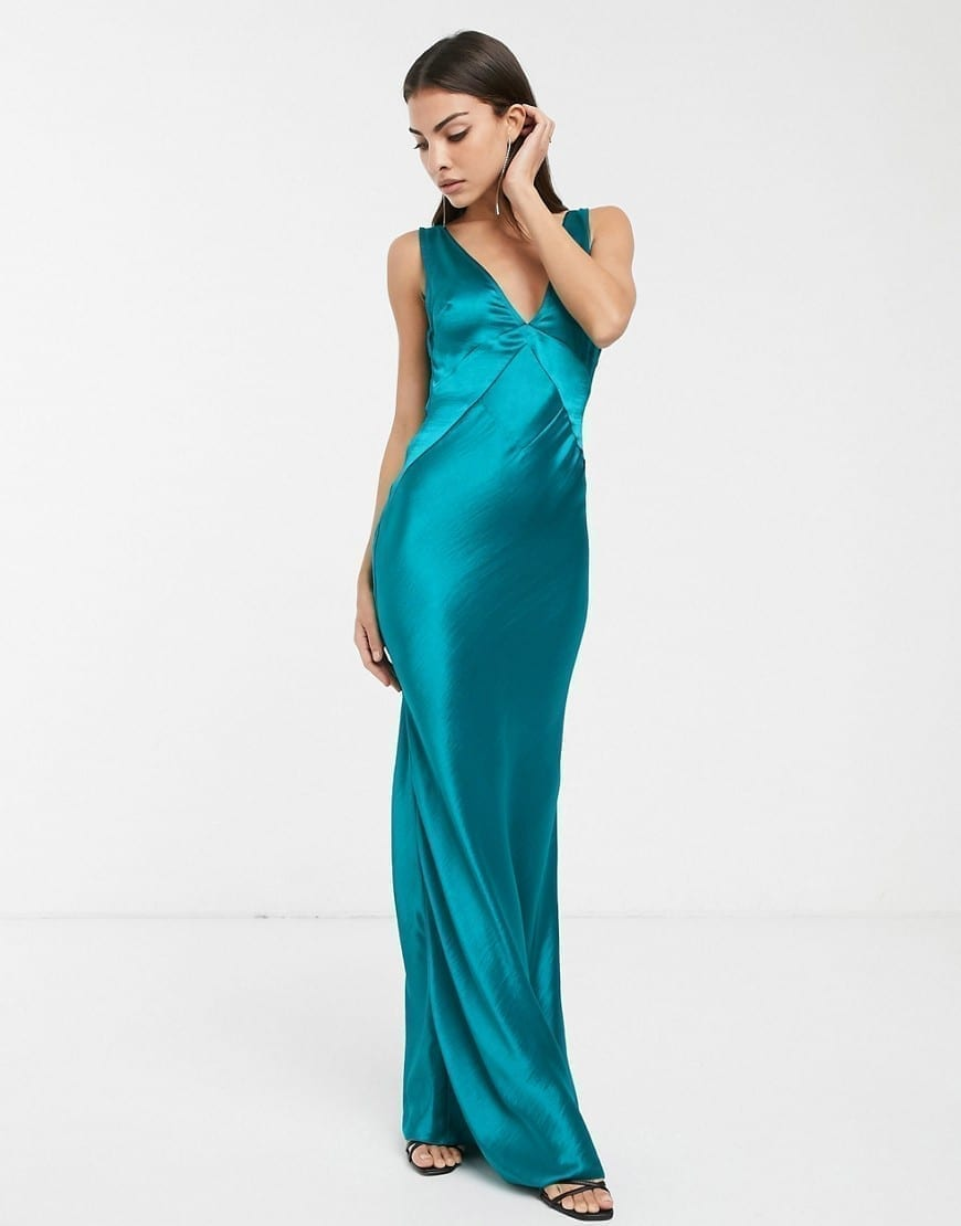 ASOS DESIGN Paneled Satin Maxi Dress