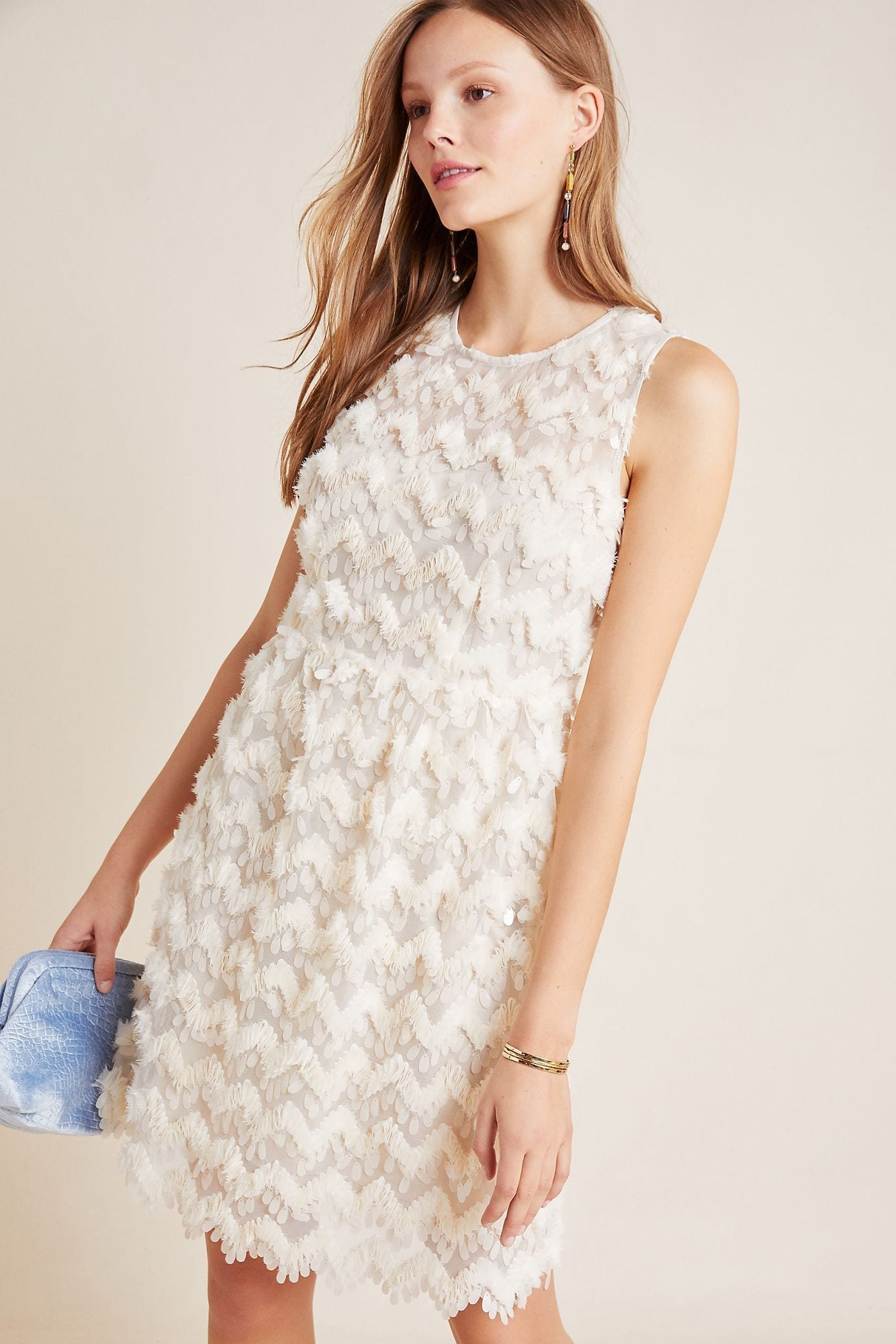 BLUE TASSEL Priscilla Textured Mini Dress