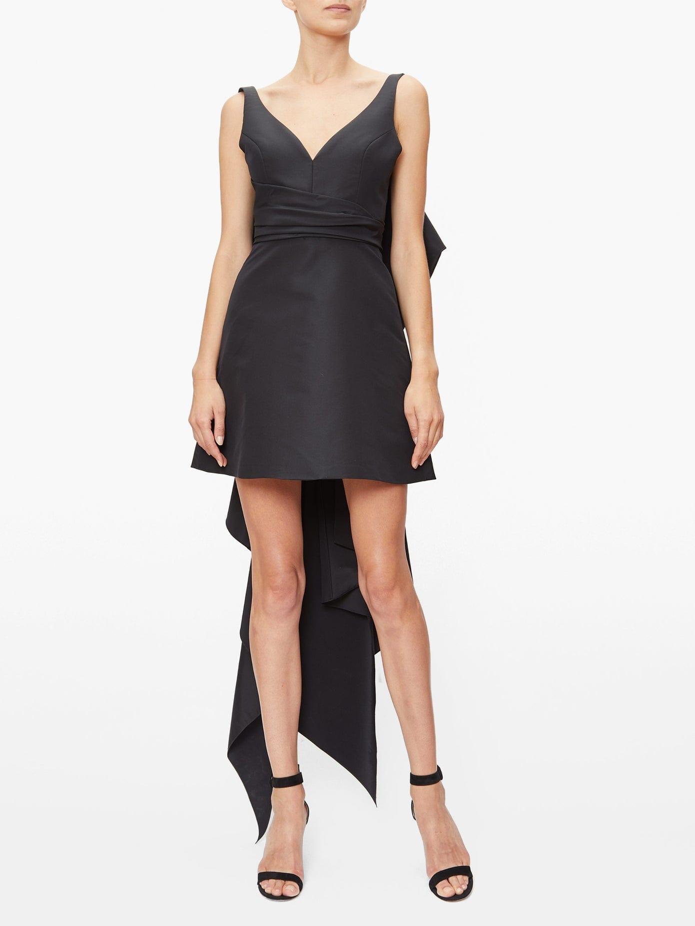 CAROLINA HERRERA Back-bow Faille Mini Dress