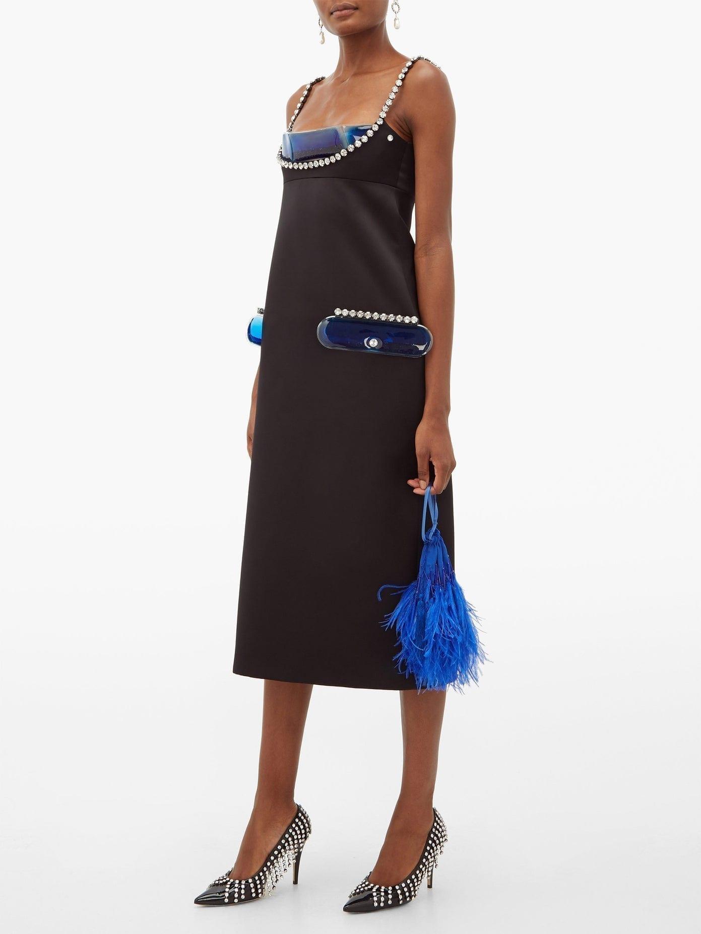 CHRISTOPHER KANE Crystal And Gel-filled Pvc-panel Satin Dress