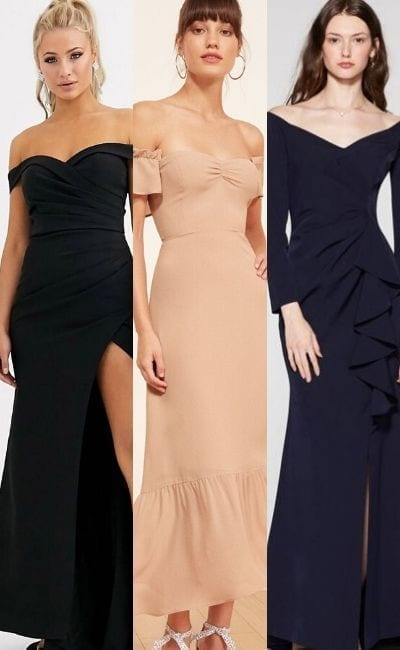 Beautiful Bardot Dresses For A Statement Neckline