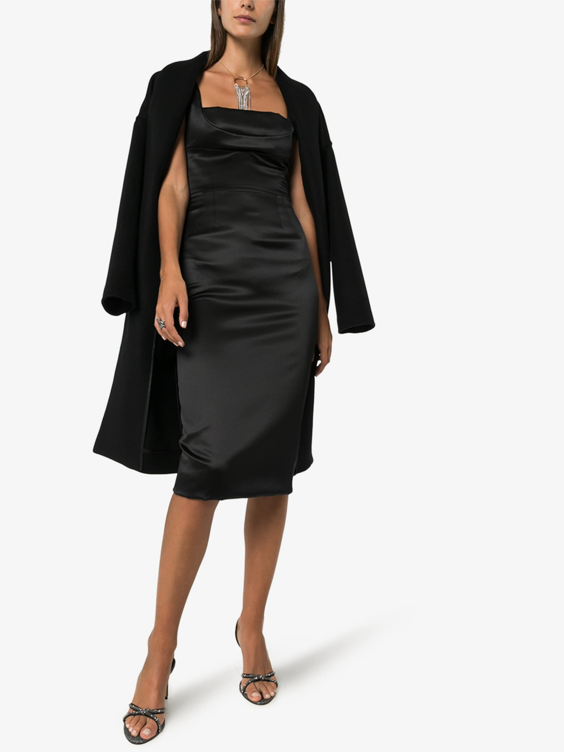 DOLCE & GABBANA Duchesse Fitted Midi Dress