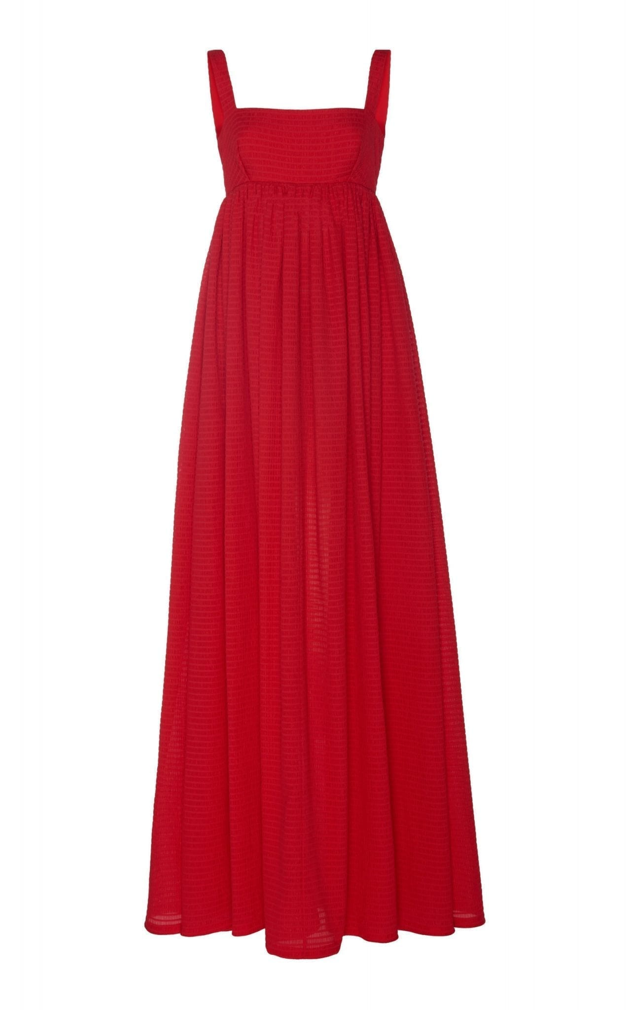 EMILIA WICKSTEAD Evelina Shirred Cupro Maxi Dress