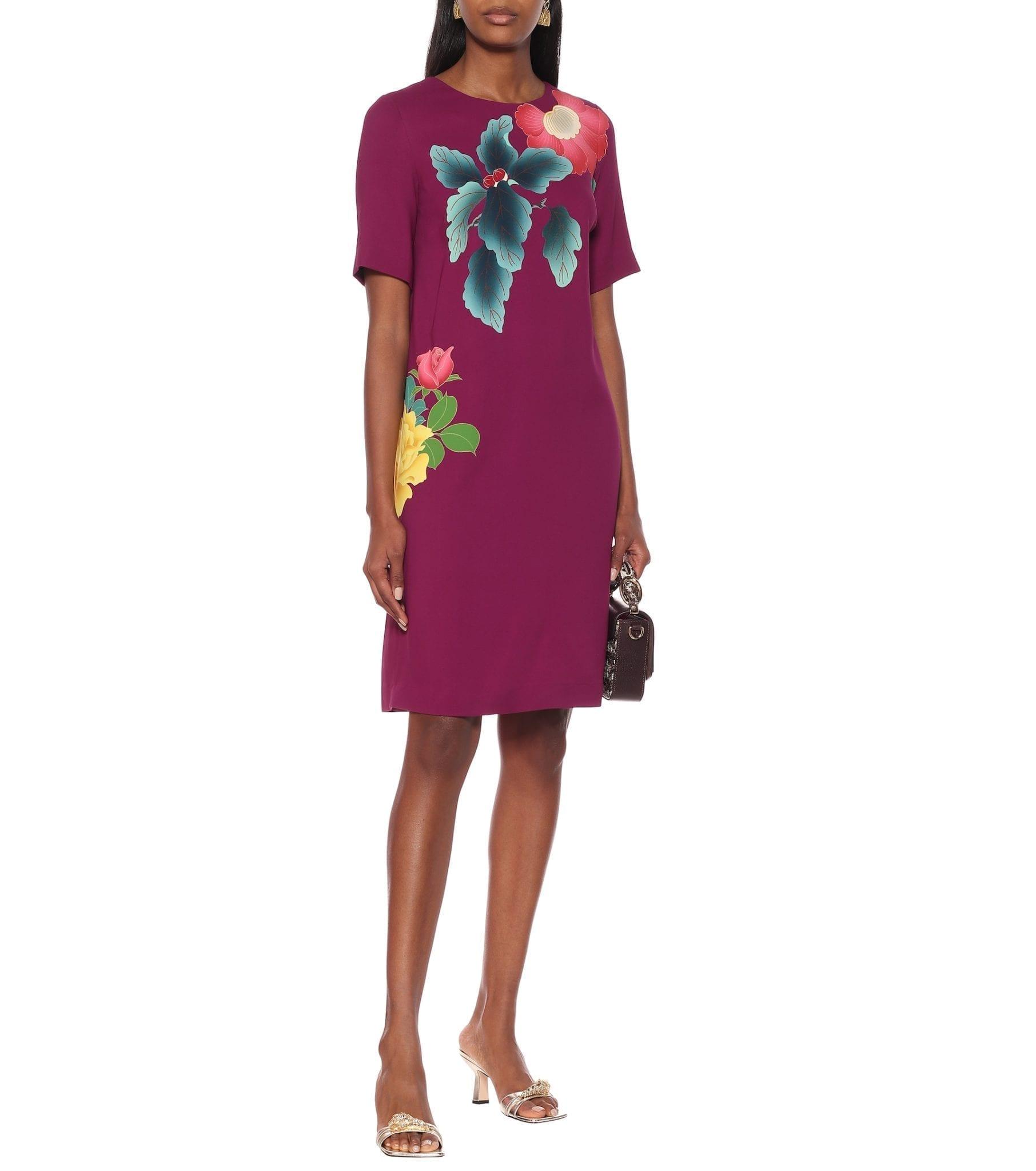 ETRO Floral Cotton-blend Crêpe Dress