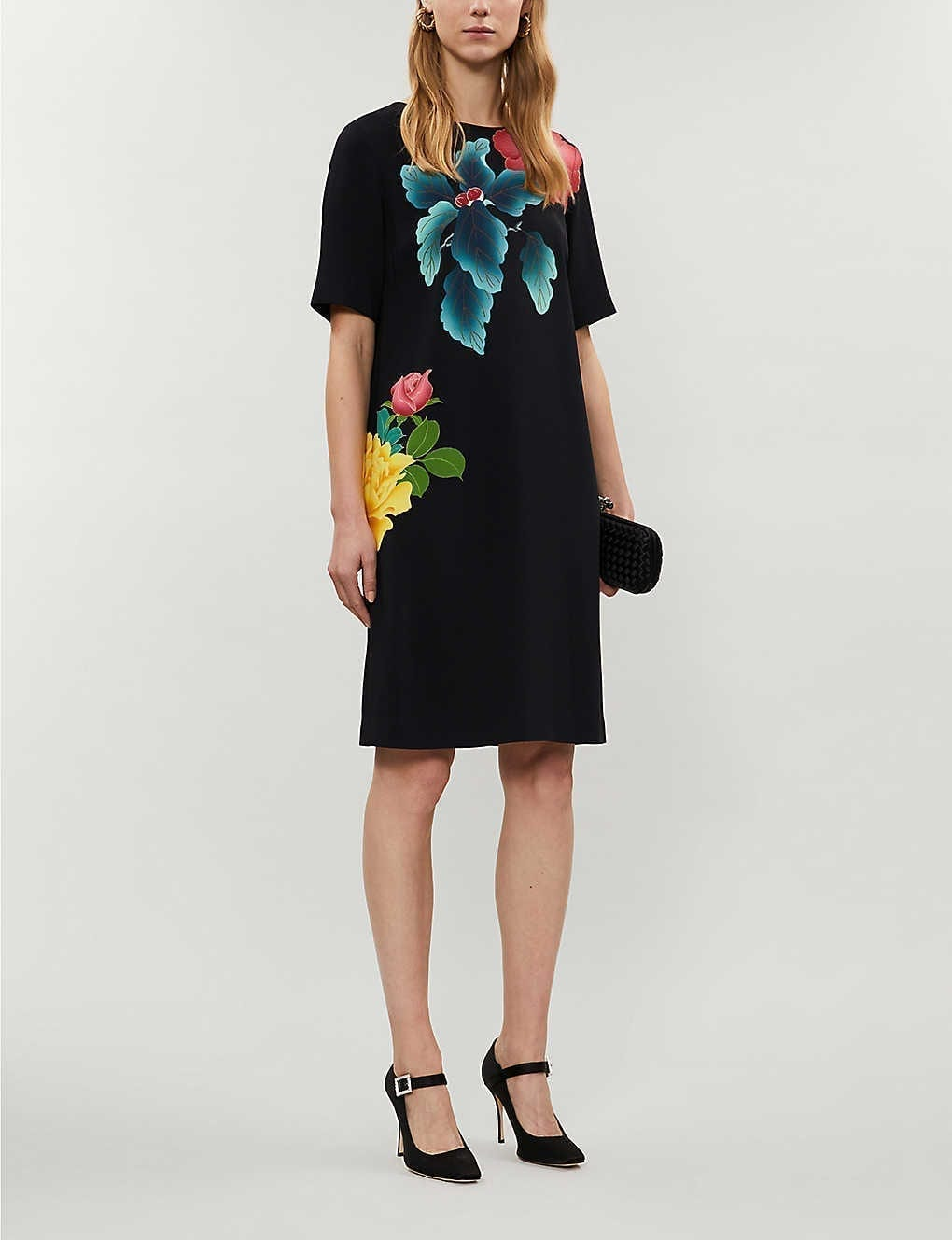 ETRO Floral-print Crepe Mini Dress