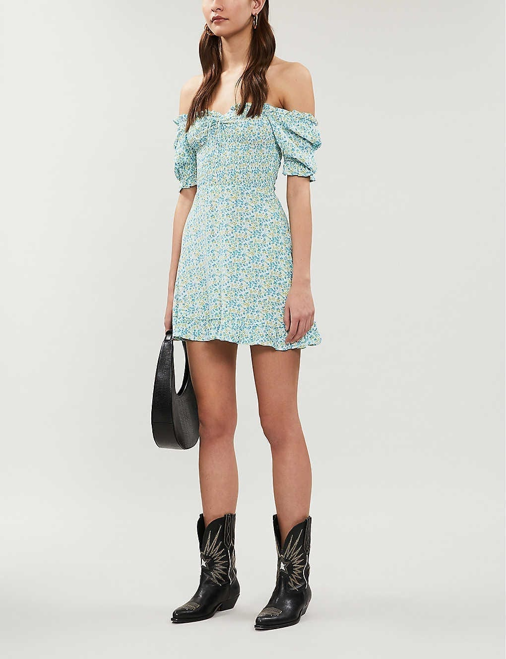 FAITHFULL THE BRAND Donna Crepe Mini Dress