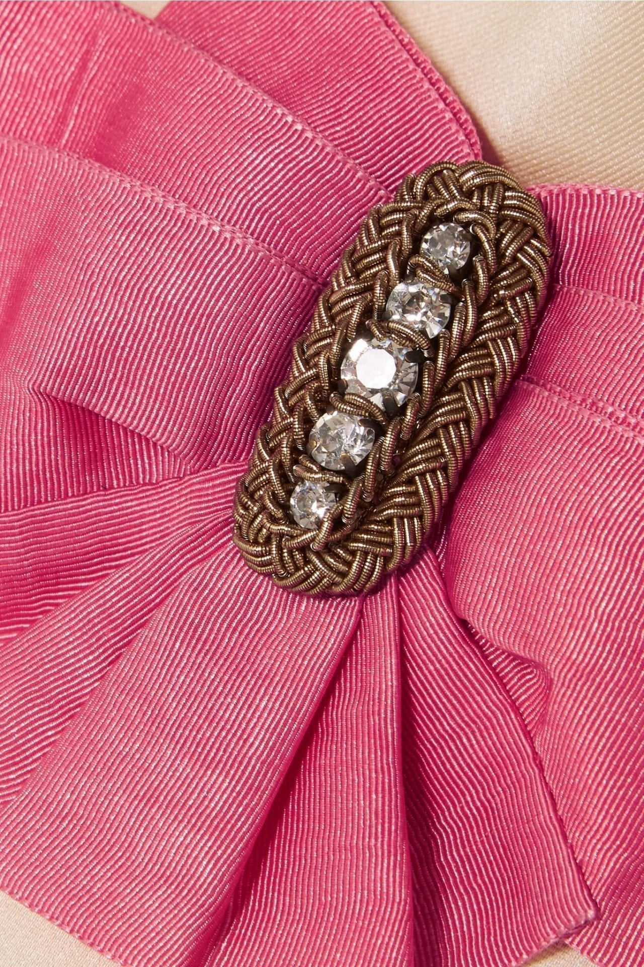 GUCCI Embellished Two-tone Silk And Devoré-velvet Mini Dress