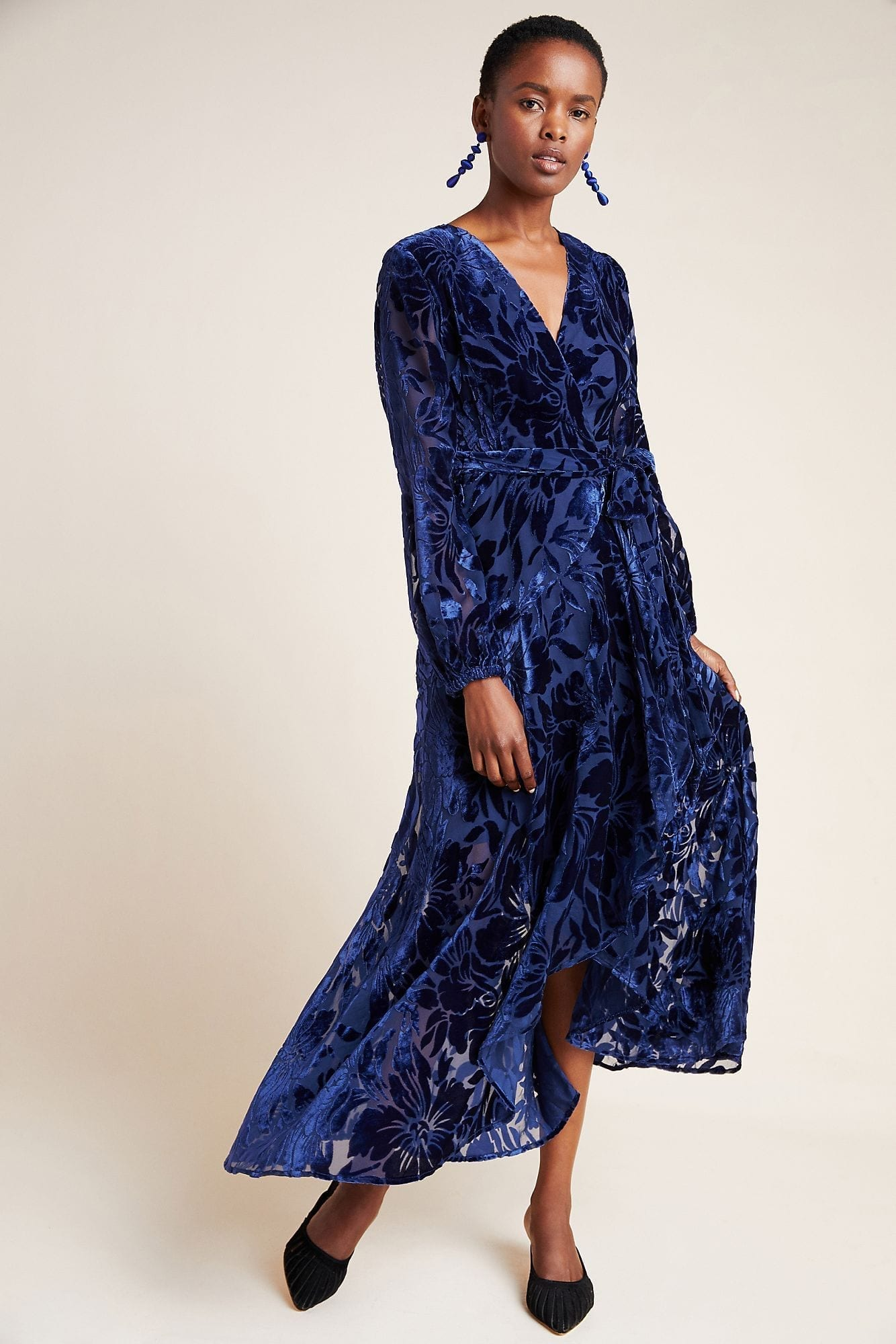 HUTCH Daniella Velvet Maxi Dress