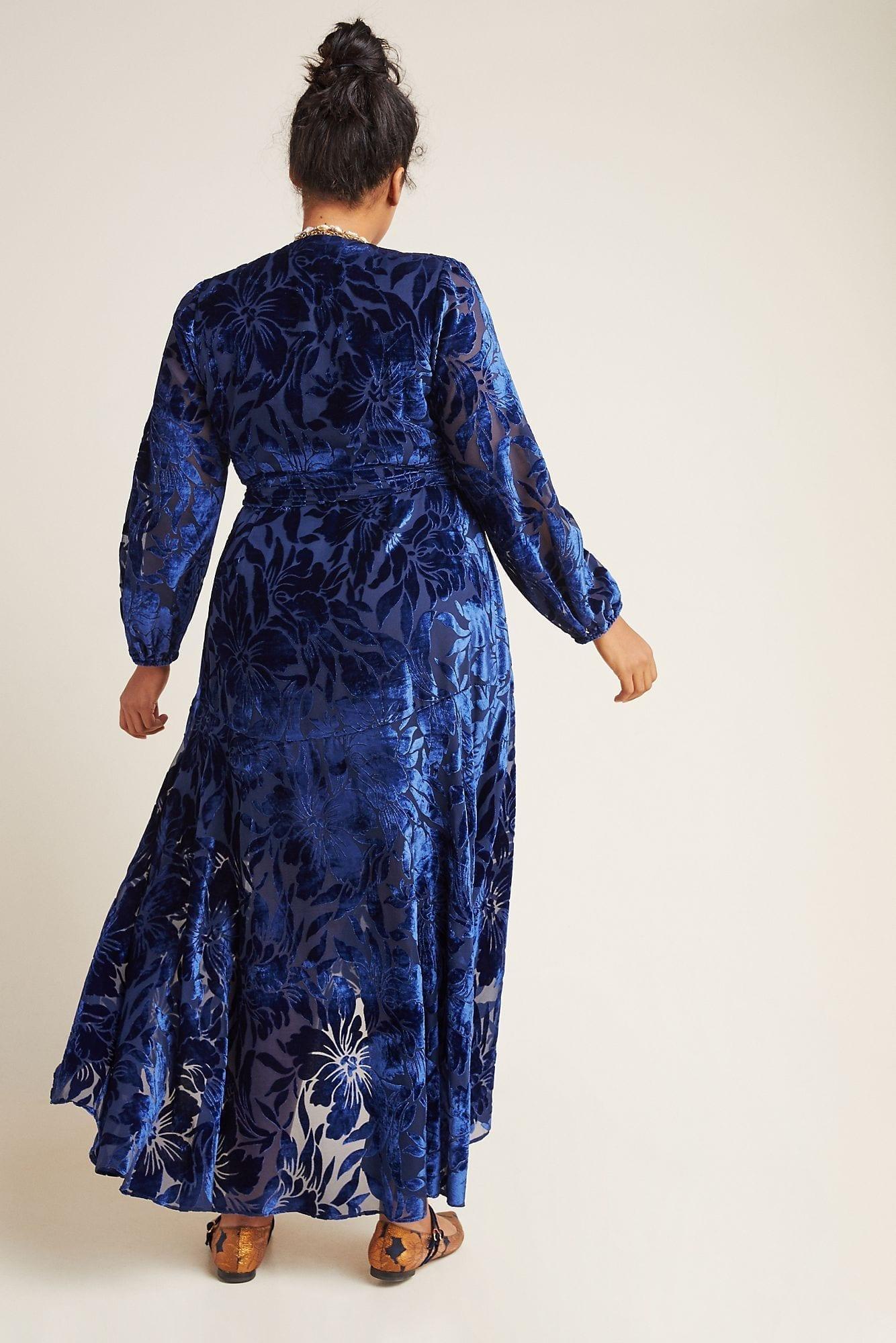 HUTCH Daniella Velvet Maxi Dress