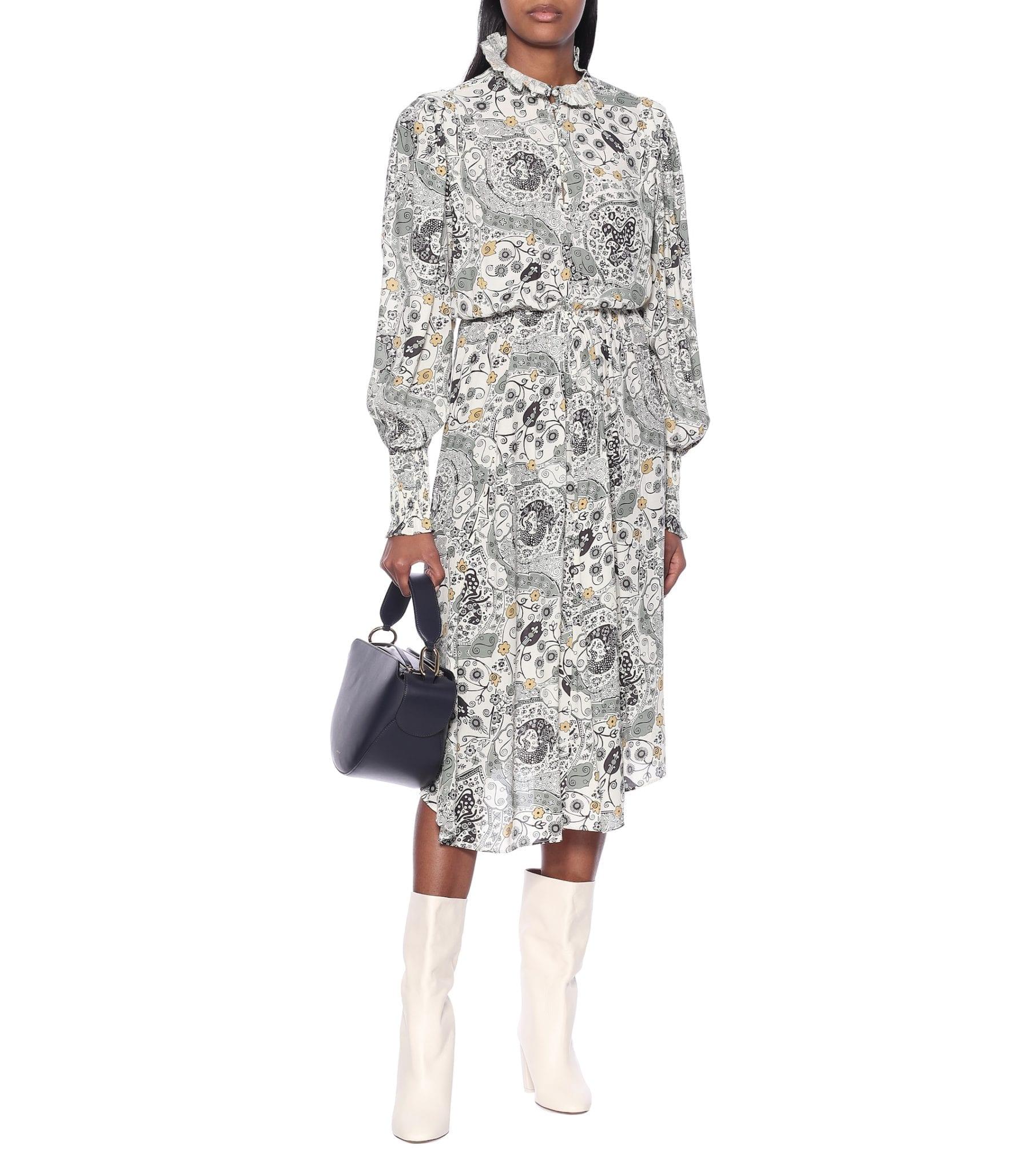 ISABEL MARANT, ÉTOILE Cescott Printed Midi Dress