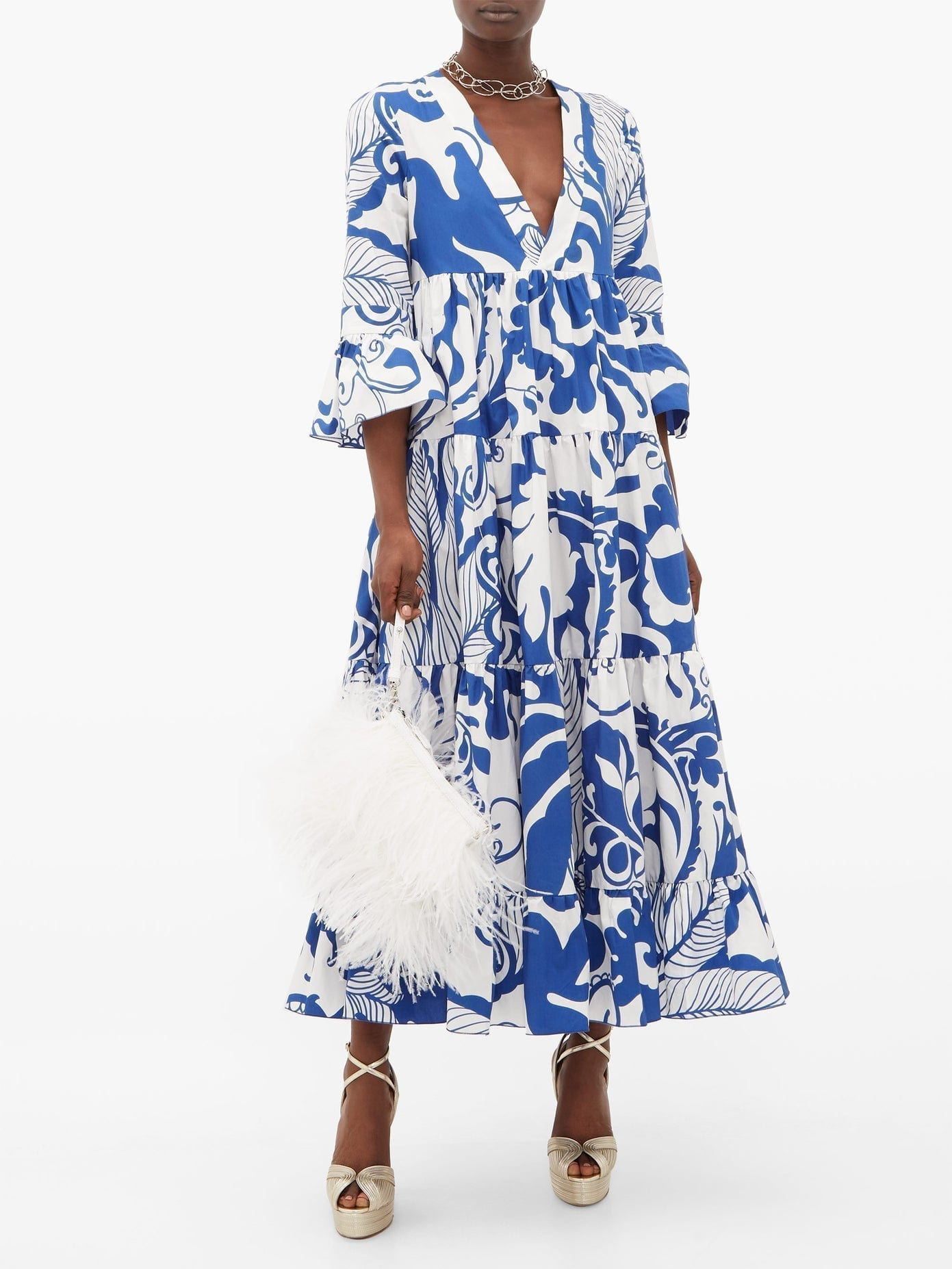 LA DOUBLEJ Jennifer Jane Printed Cotton Dress