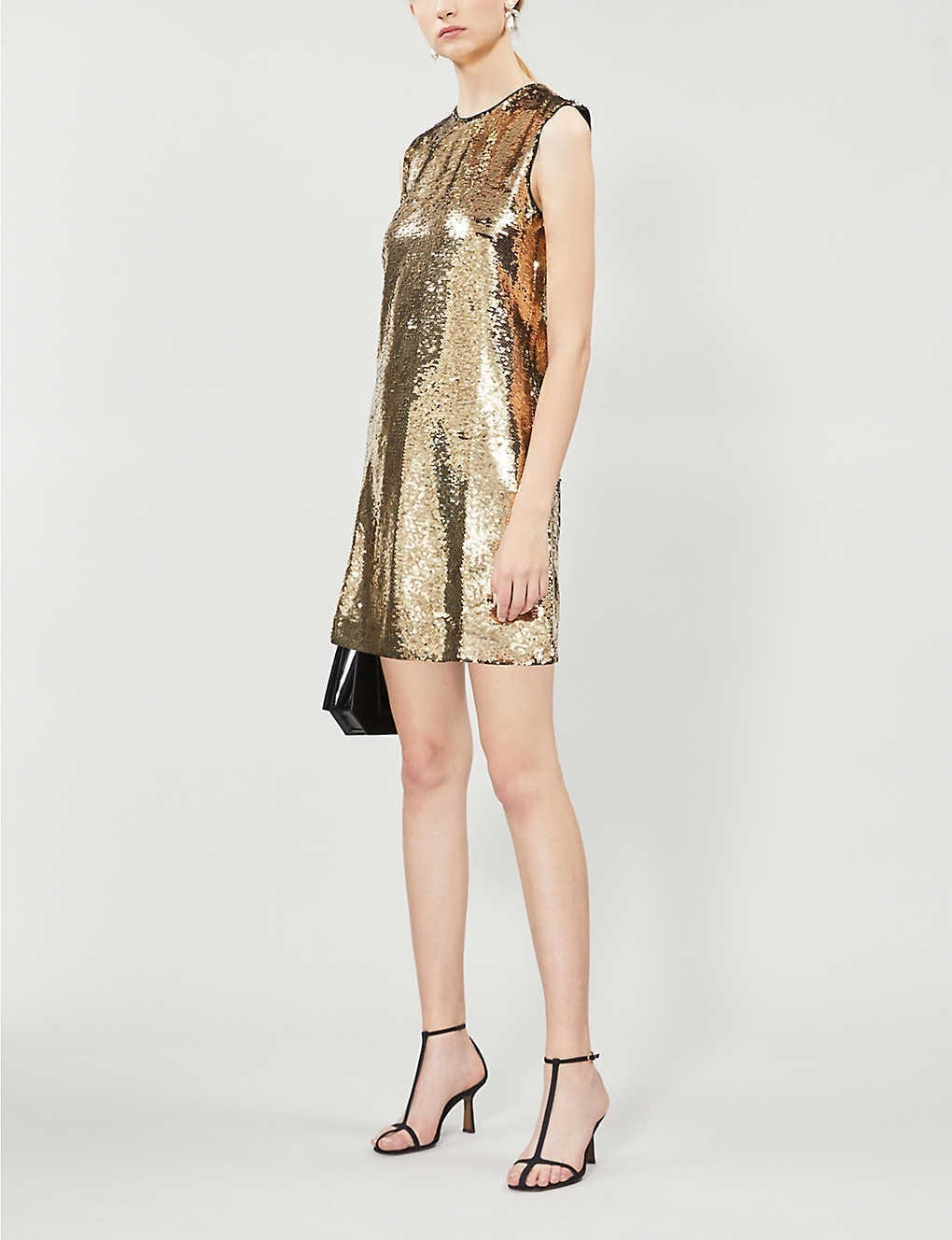 MAJE Round-neck Sequinned Mini Dress