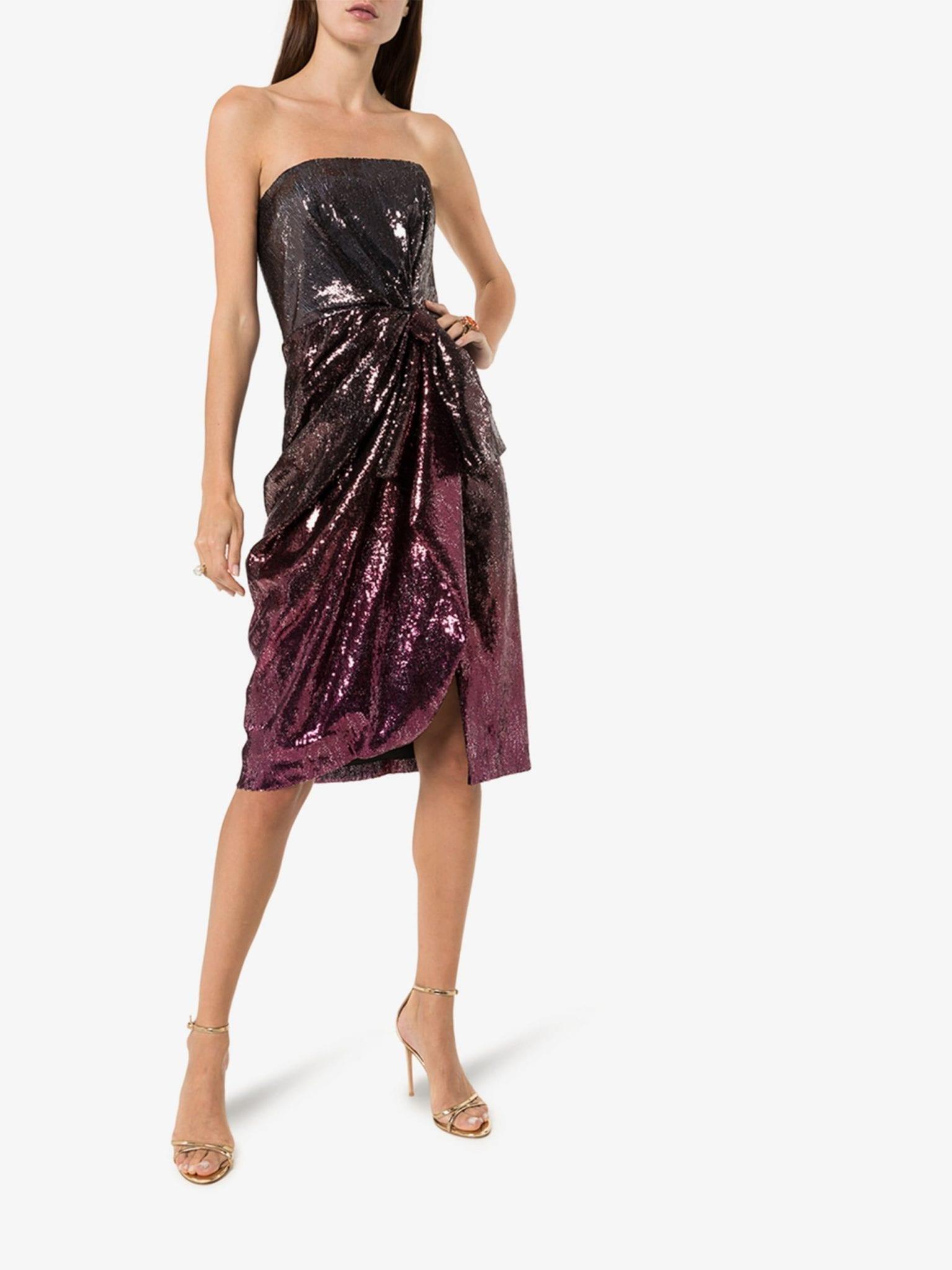 MARY KATRANTZOU Kylie Strapless Sequin Dress