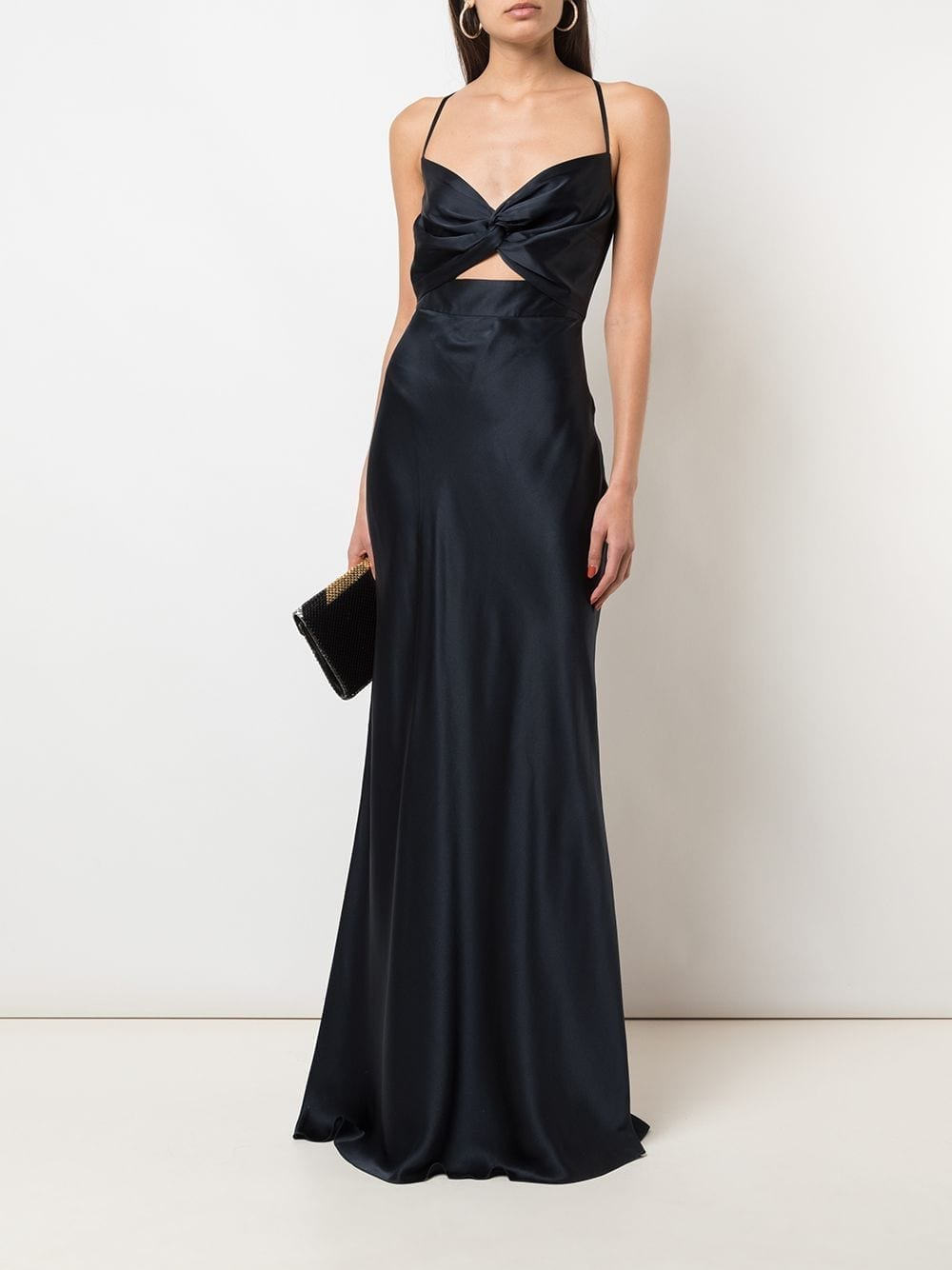 MICHELLE MASON Twist Silk Gown