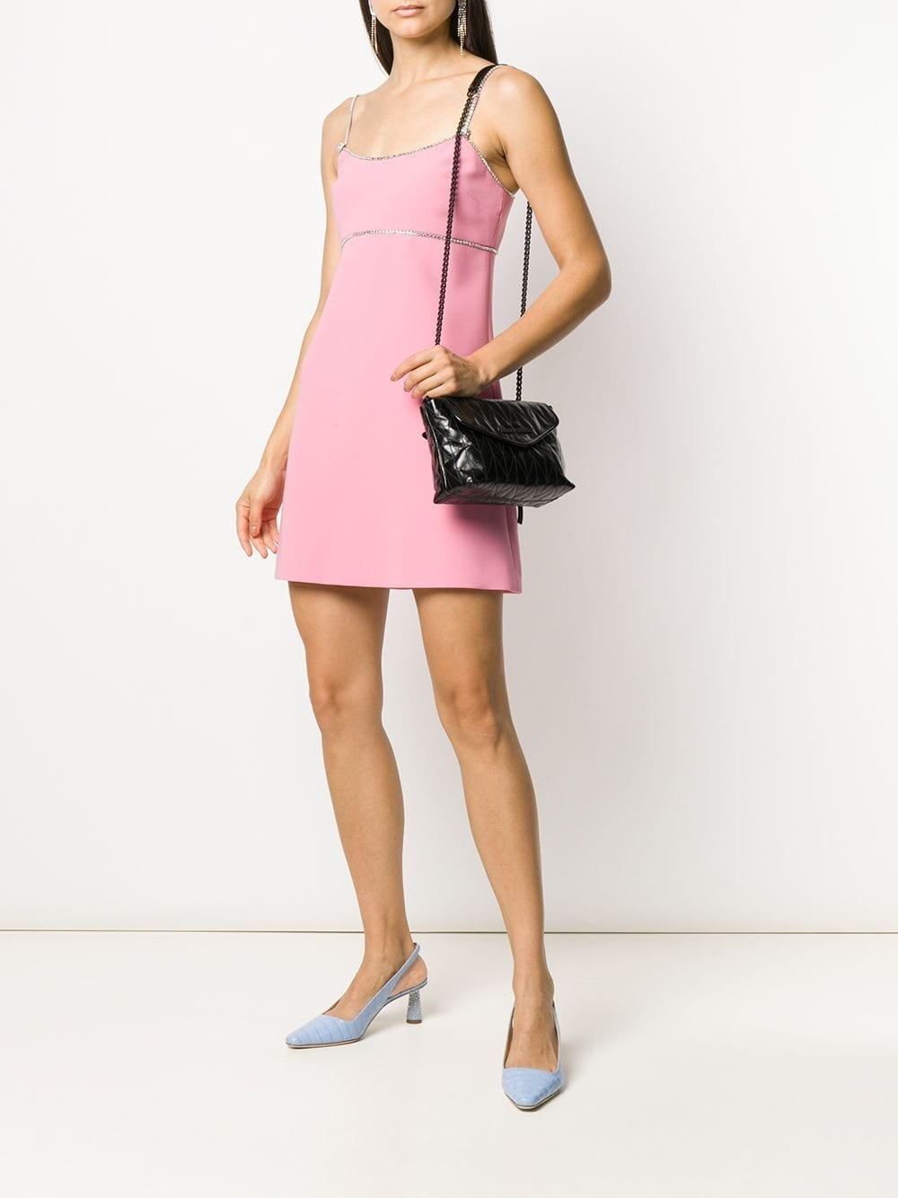 MIU MIU Crystal-embellished Mini Dress