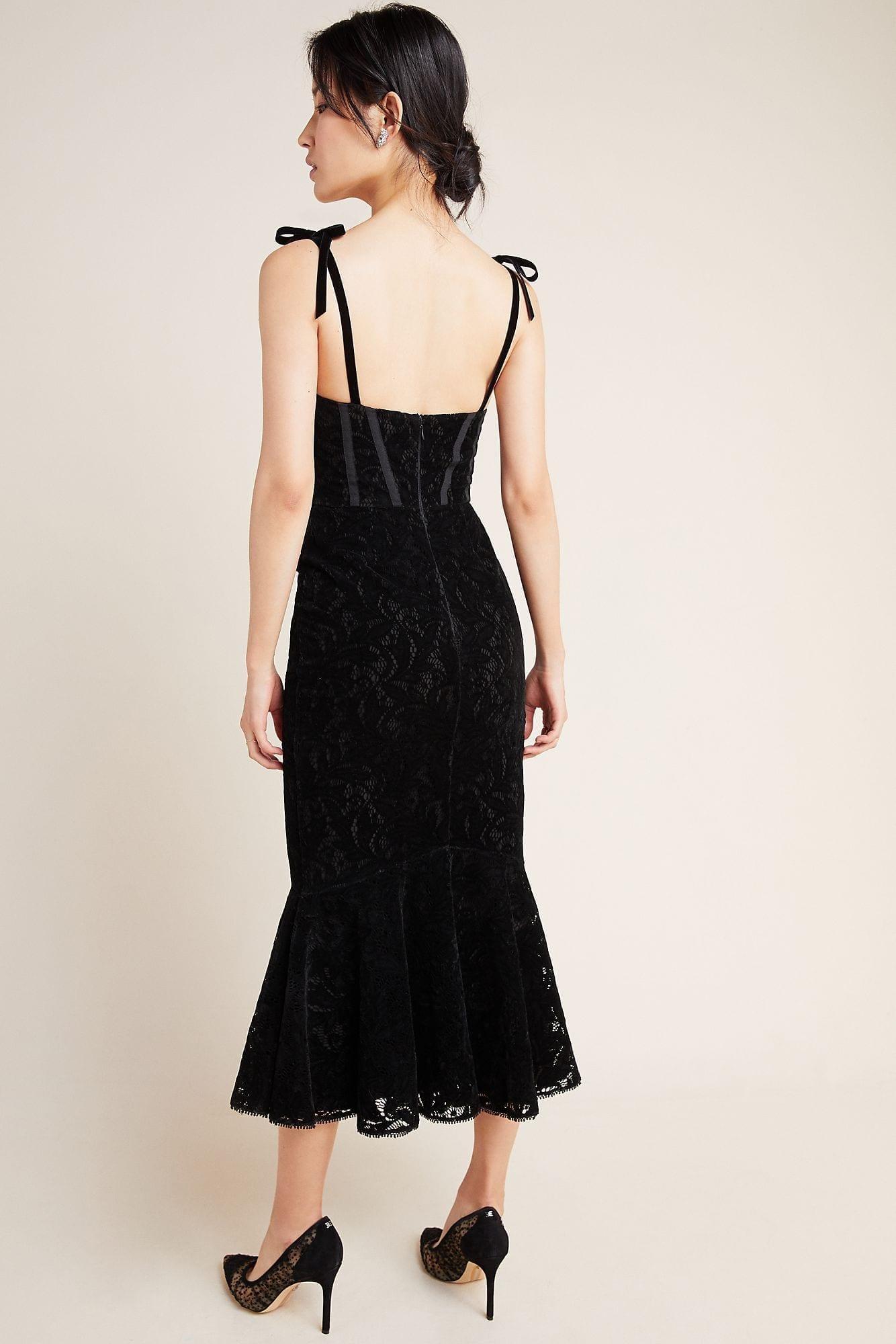 ML MONIQUE LHUILLIER Velvet Maxi Dress