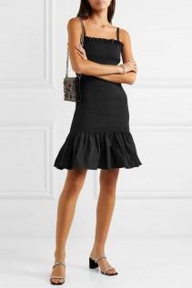 MOLLY GODDARD Shirred Taffeta Mini Dress
