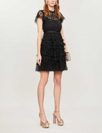 NEEDLE AND THREAD Andromeda Sequin-embellished Tulle Mini Dress
