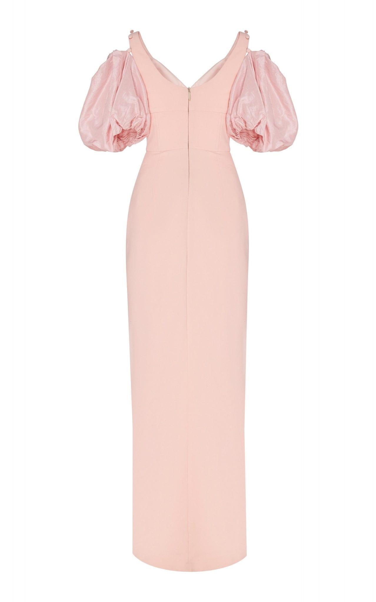 PRABAL GURUNG Satin-Paneled Crepe Gown