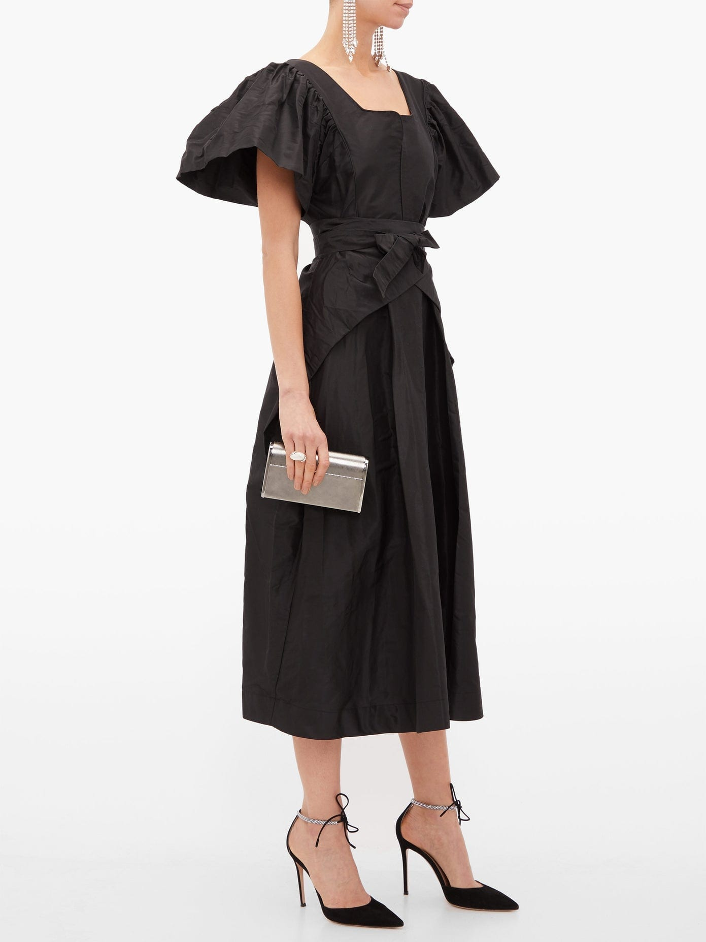 PREEN BY THORNTON BREGAZZI Jayda Wrap-waist Silk-taffeta Dress